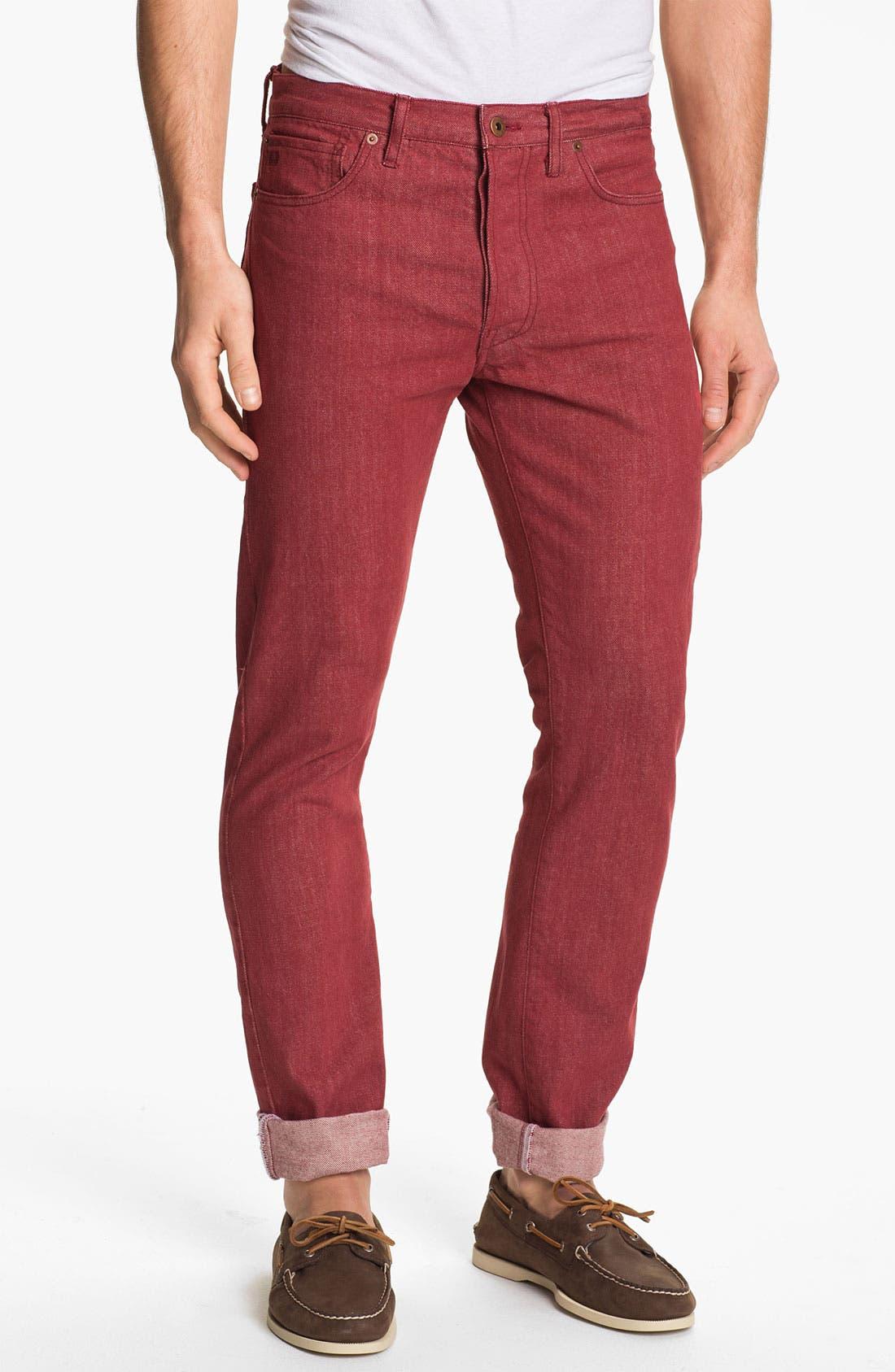 Alternate Image 2  - J. Press York Street 'Hanover' Slim Fit Selvedge Jeans