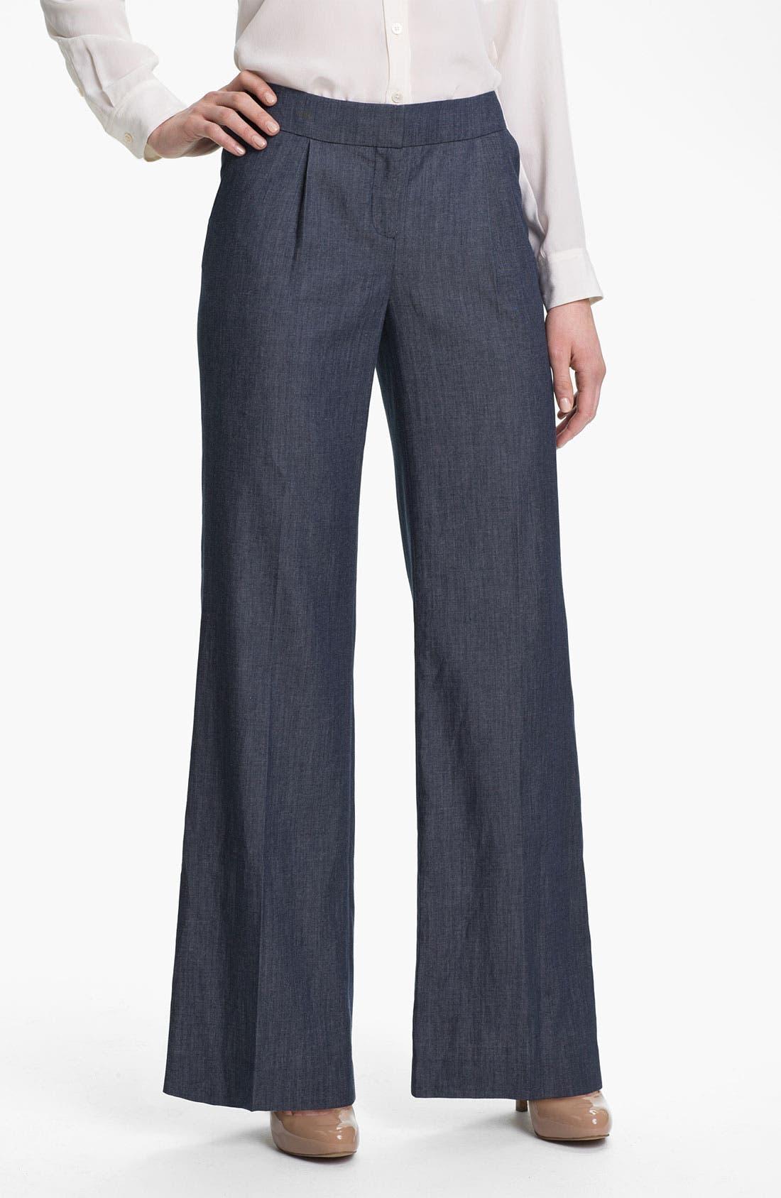 Alternate Image 1 Selected - Halogen® Wide Leg Denim Pants
