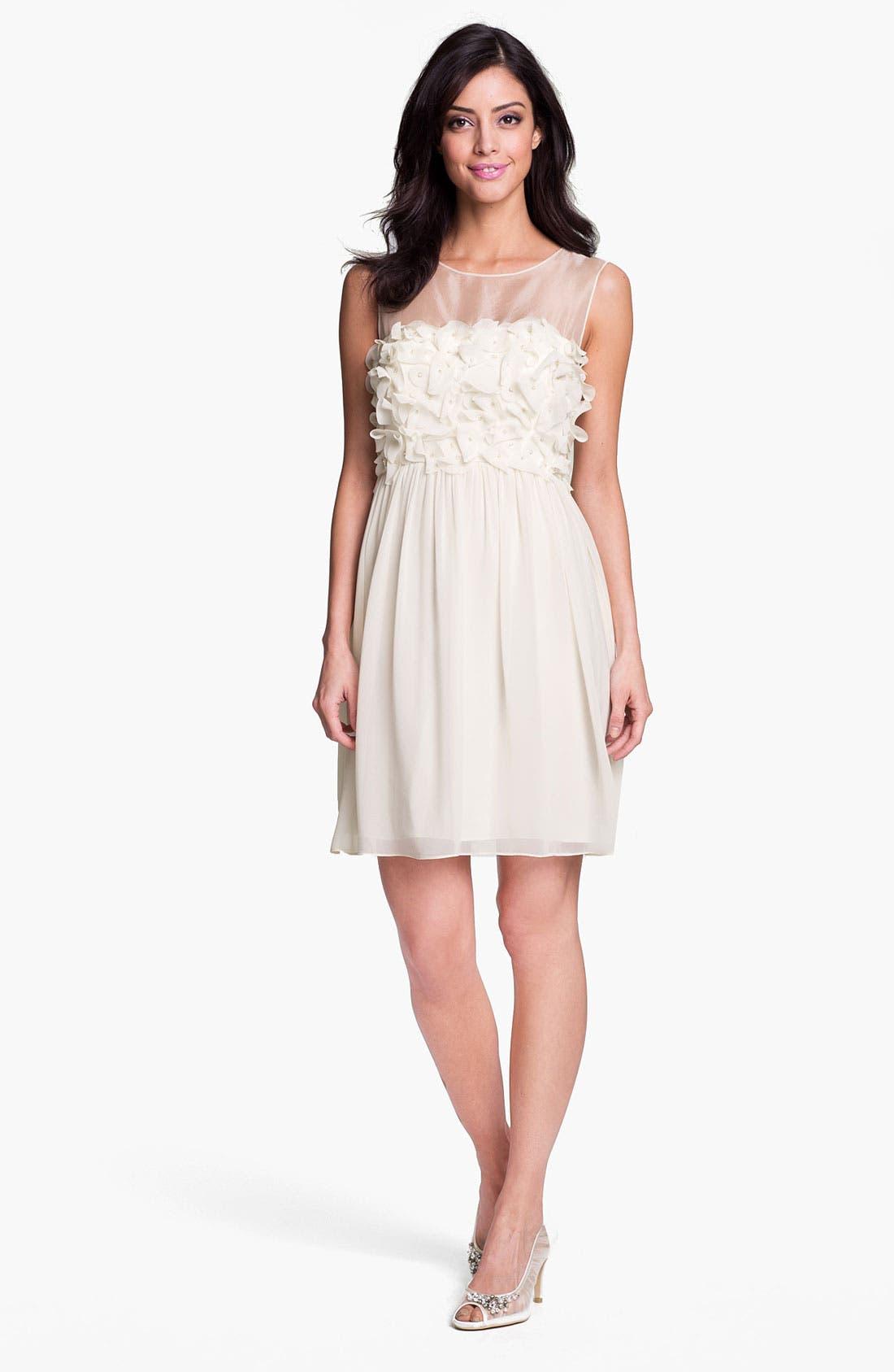 Alternate Image 3  - Donna Morgan Embellished Ruffle Chiffon Dress