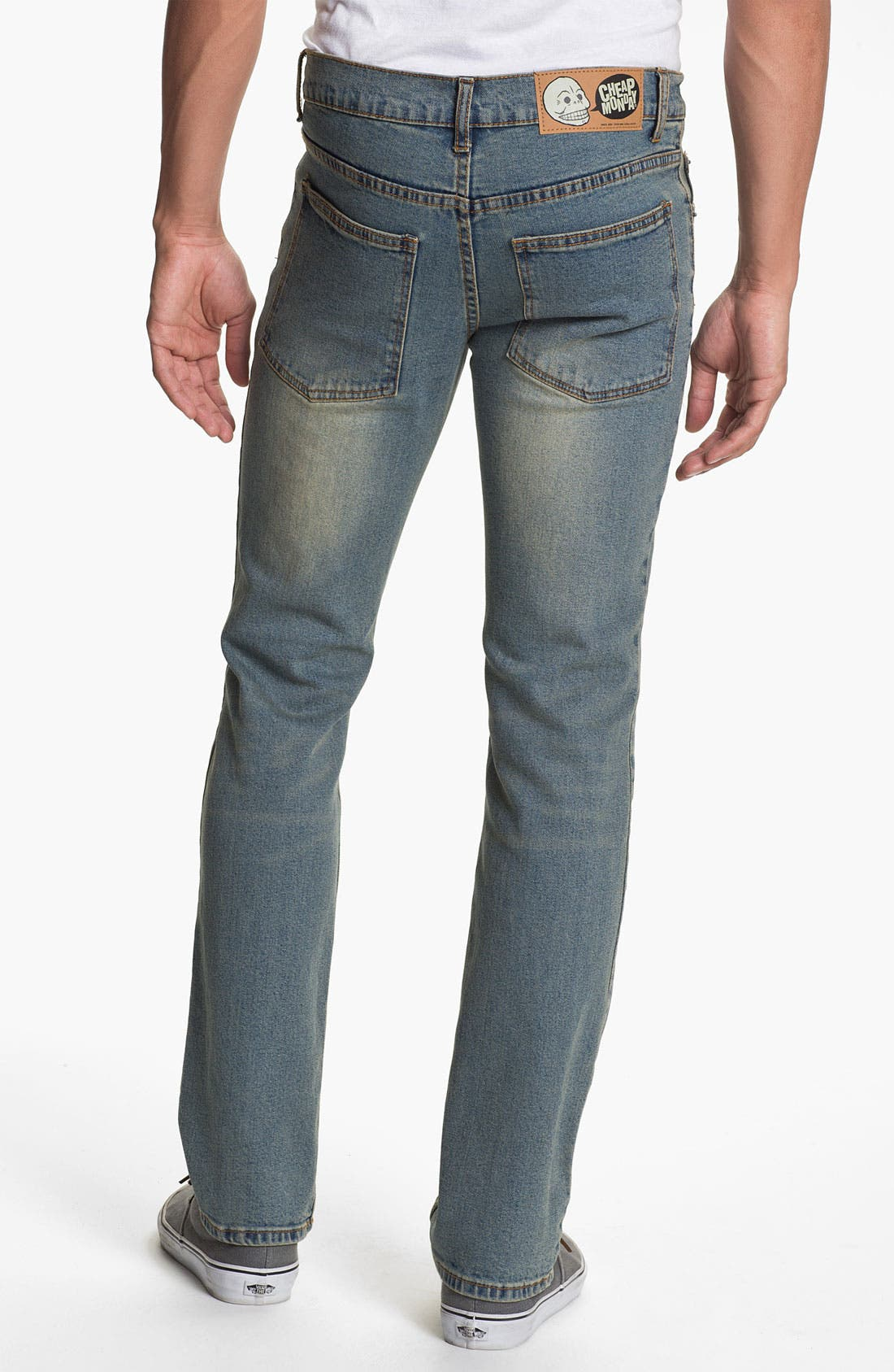 Main Image - Cheap Monday Tight Slim Straight Leg Jeans (Dirt Blue)