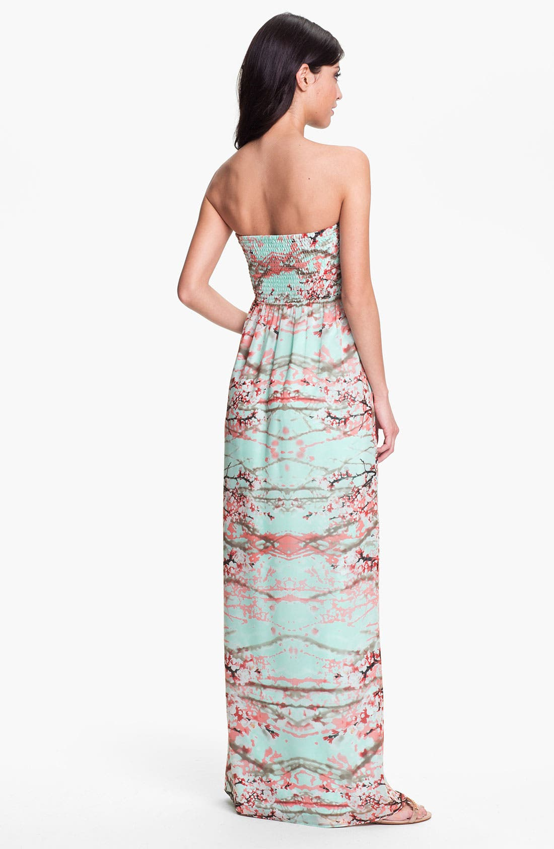 Alternate Image 2  - Jessica Simpson Strapless Print Maxi Dress