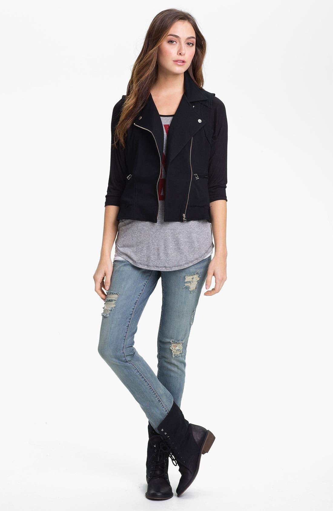 Alternate Image 3  - KUT from the Kloth Stretch Cotton Moto Vest