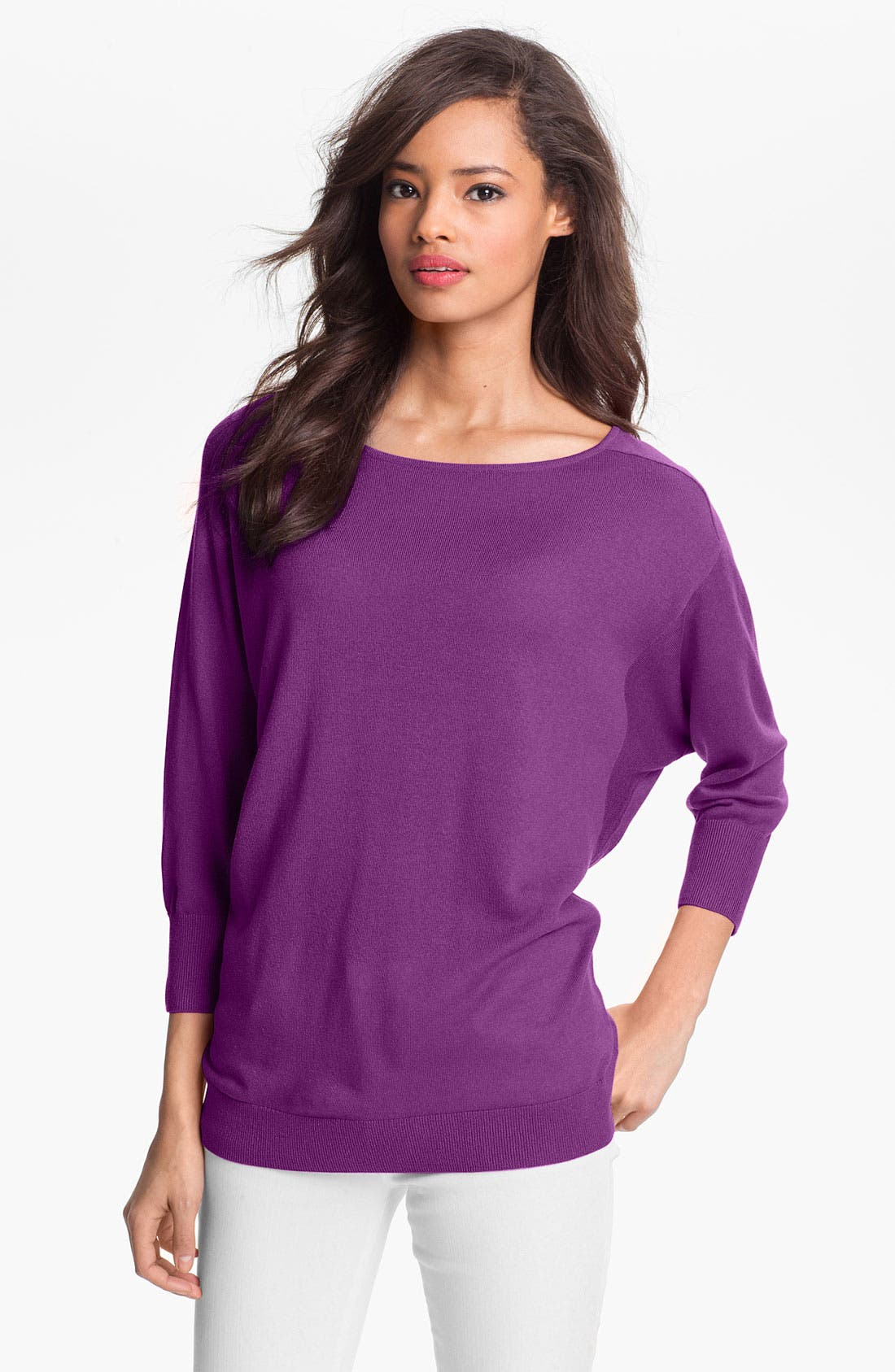 Alternate Image 1 Selected - Nordstrom Collection Silk & Cashmere Sweater