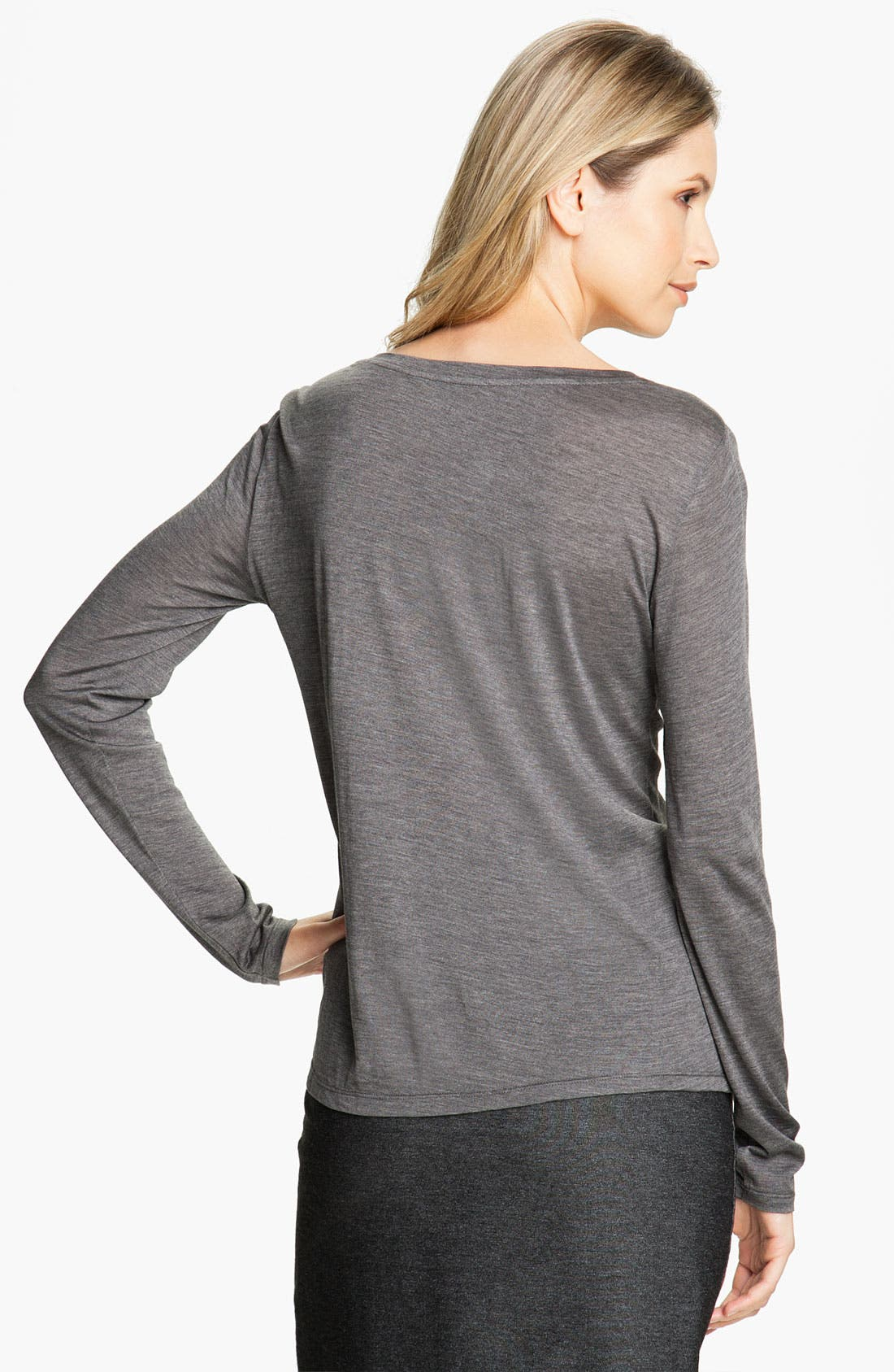 Alternate Image 2  - Eileen Fisher U-Neck Tee (Petite)