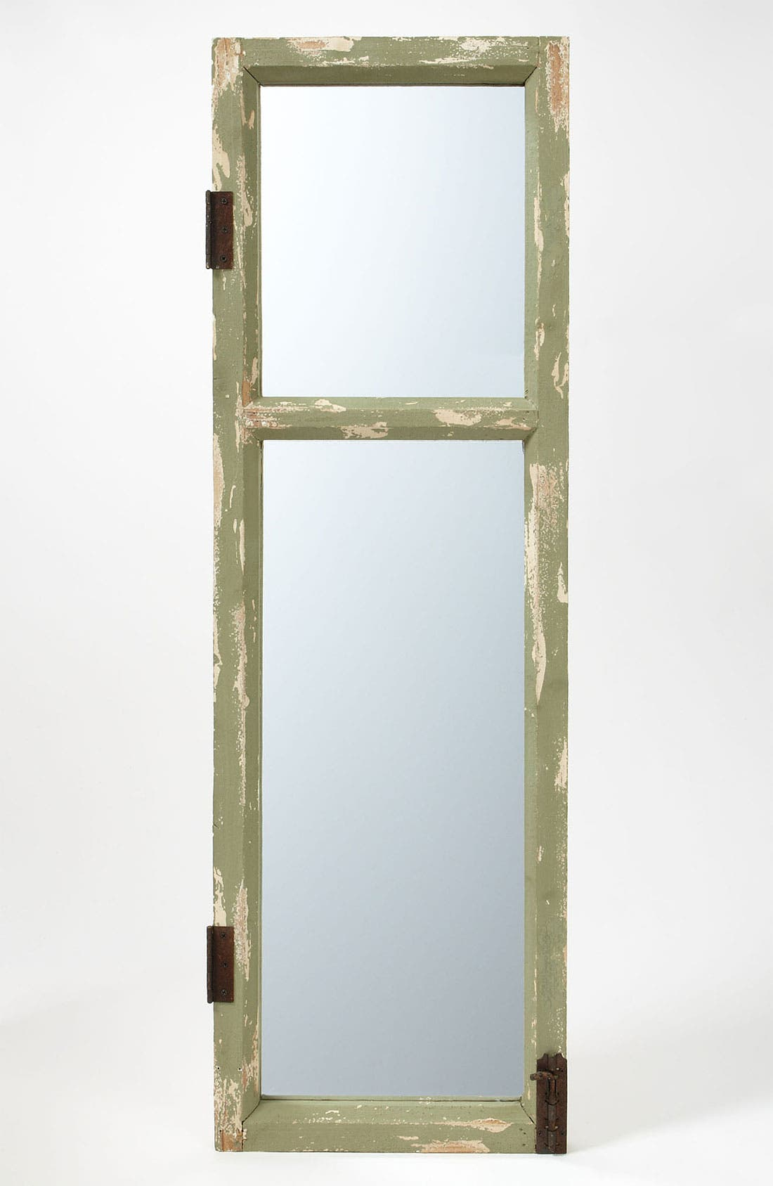 Alternate Image 1 Selected - Distressed Wood Frame Mirror