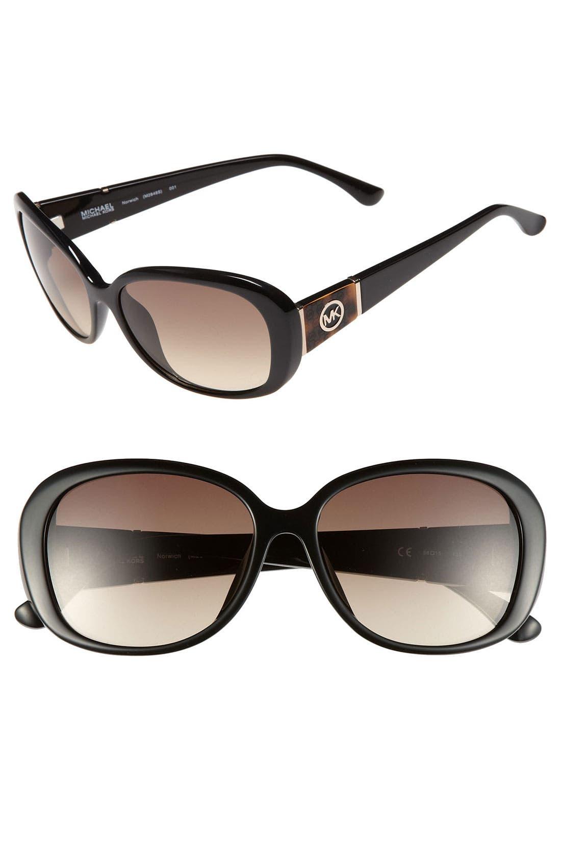 Main Image - MICHAEL Michael Kors 'Norwich' 56mm Sunglasses