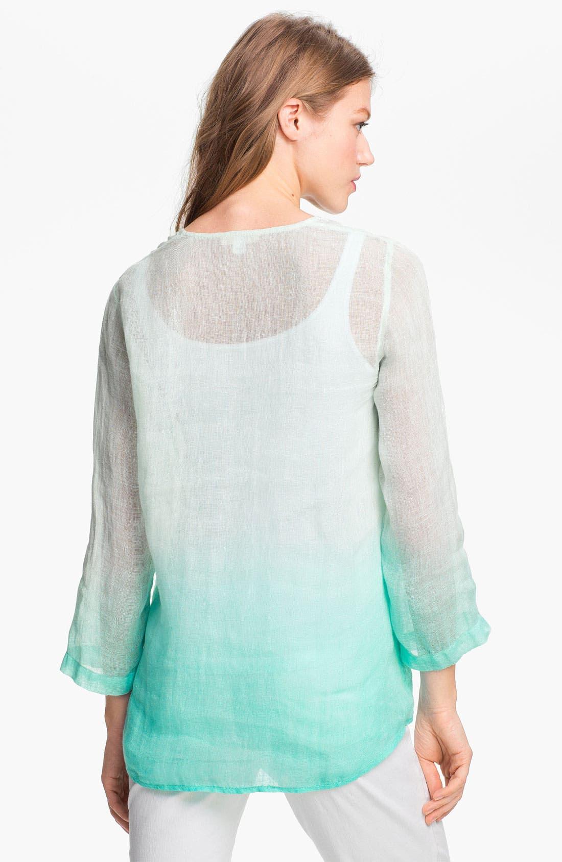 Alternate Image 2  - Eileen Fisher Dip Dye Linen Tunic