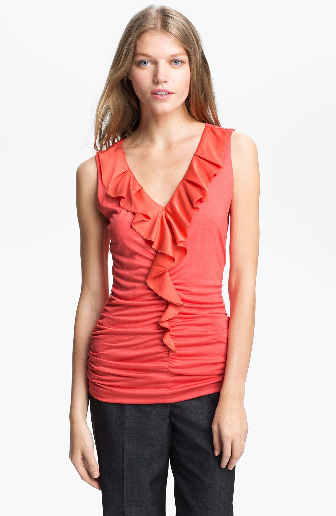 Alternate Image 1 Selected - Classiques Entier Ruffled Jersey Top