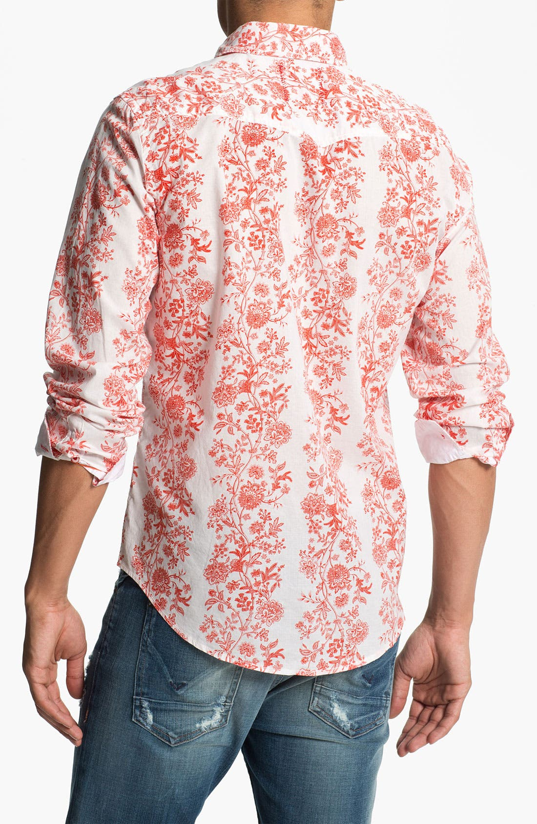 Alternate Image 2  - Vintage Red 'Bistro' Floral Print Woven Shirt