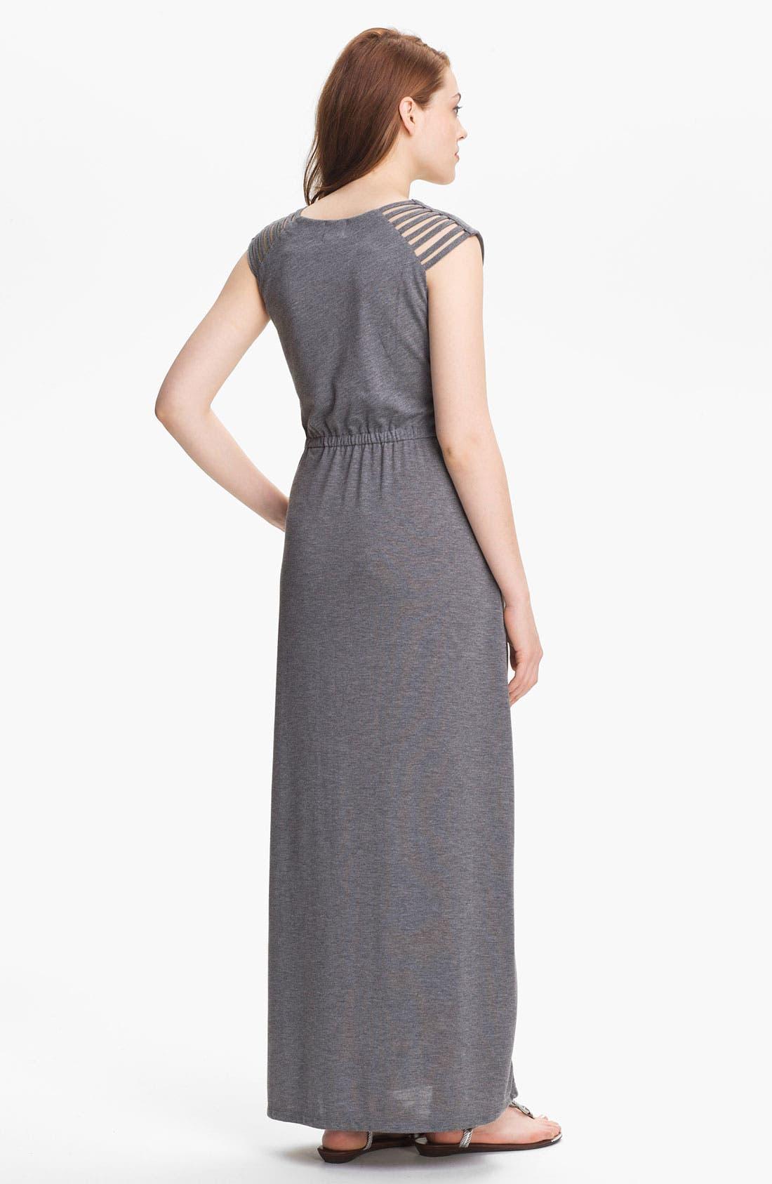 Alternate Image 2  - Press Cutout Shoulder Maxi Dress (Online Exclusive)