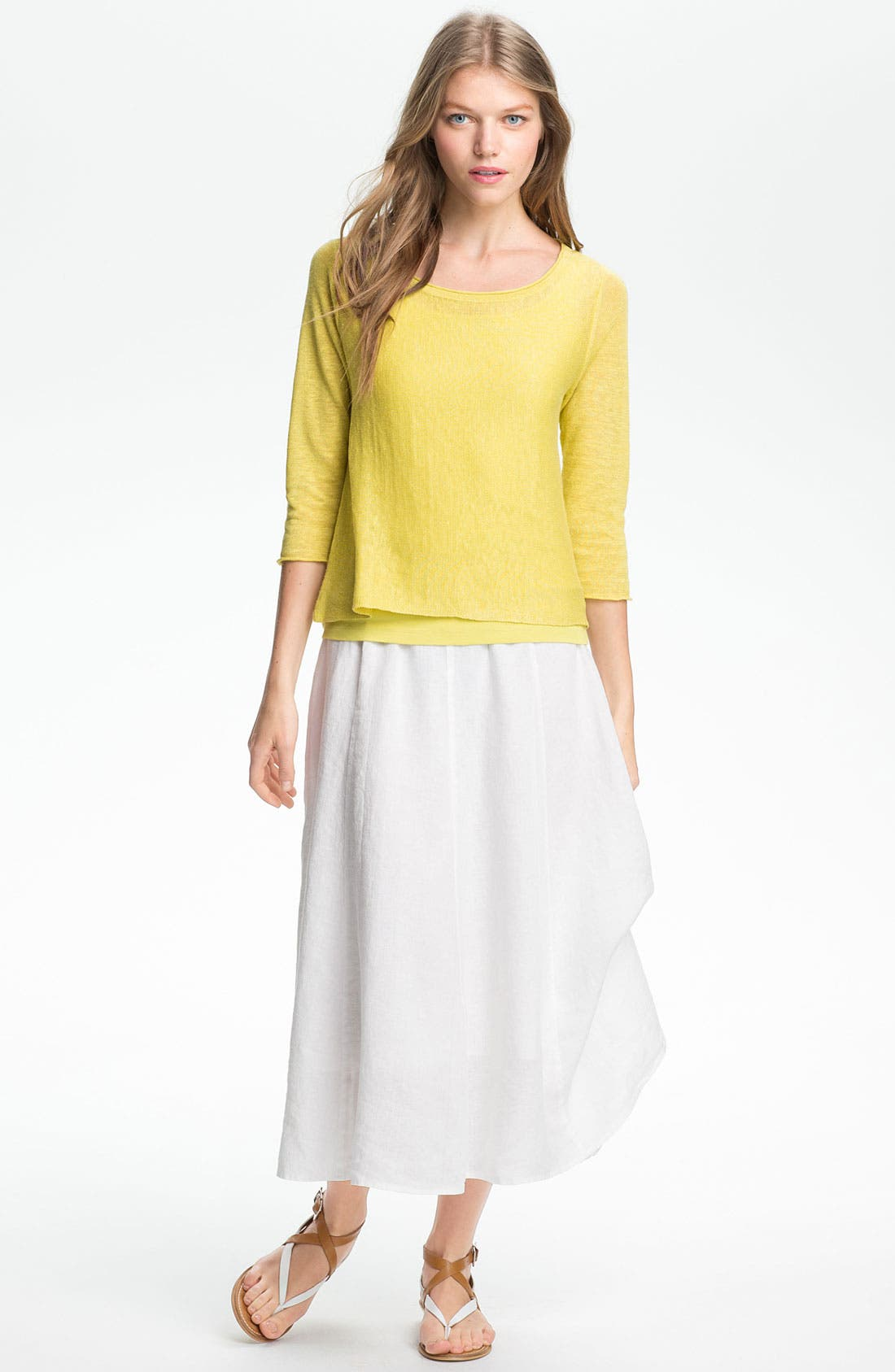 Alternate Image 6  - Eileen Fisher A-Line Linen Skirt (Regular & Petite)