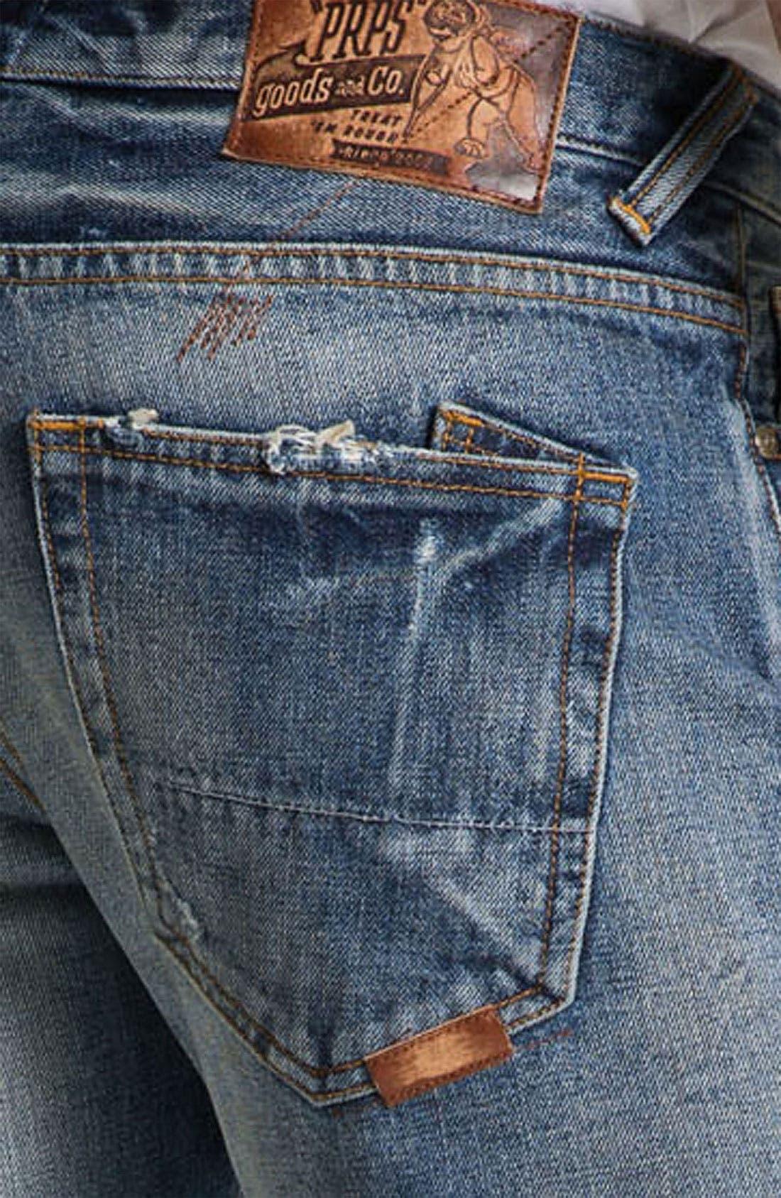Alternate Image 4  - PRPS 'Barracuda' Straight Leg Jeans (Light Wash)
