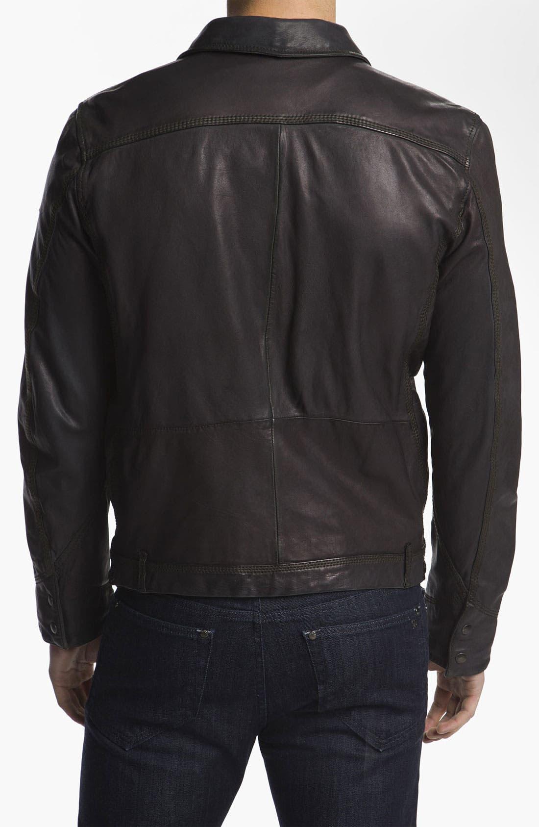 Alternate Image 2  - DIESEL® 'Laurence' Leather Jacket