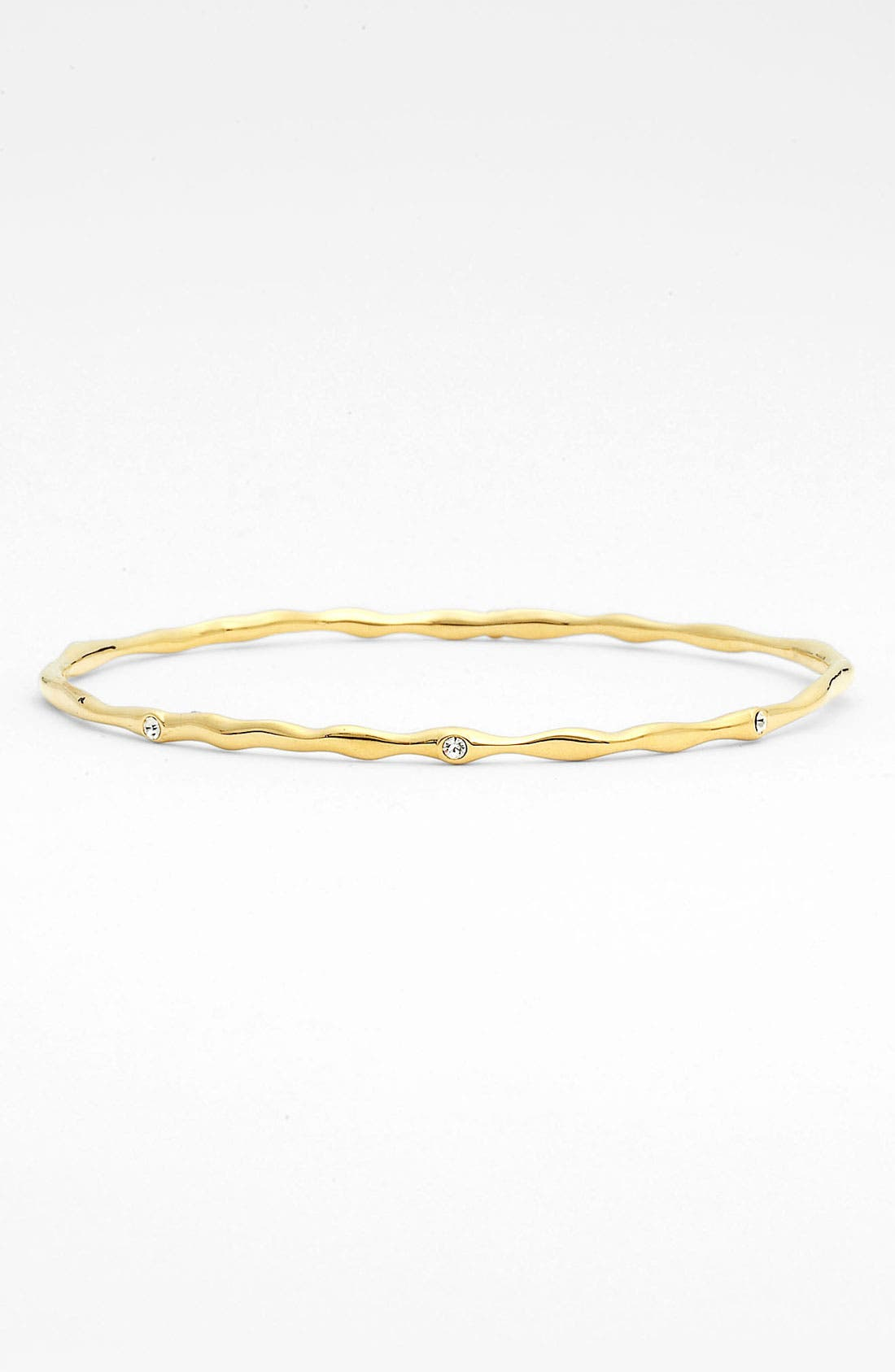 Alternate Image 1 Selected - Nadri Thin Crystal Detail Metal Bangle