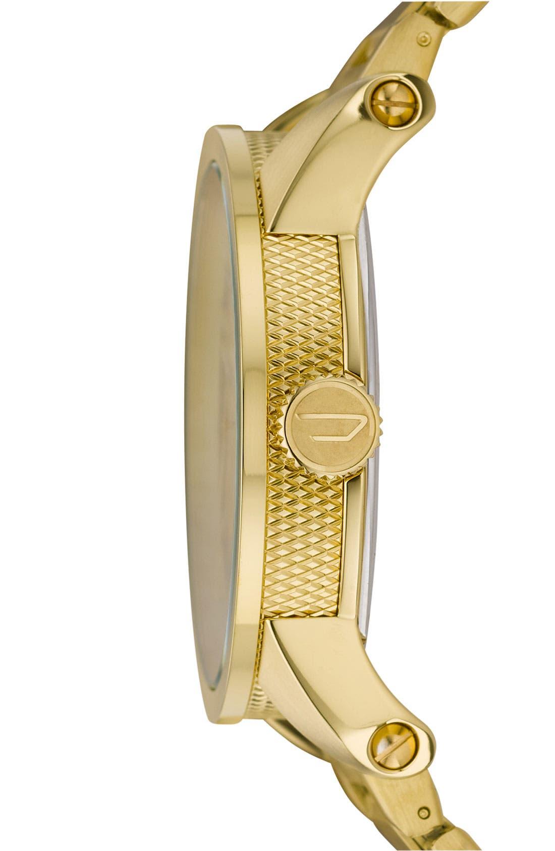 Alternate Image 4  - DIESEL® 'Franchise' Round Bracelet Watch, 45mm