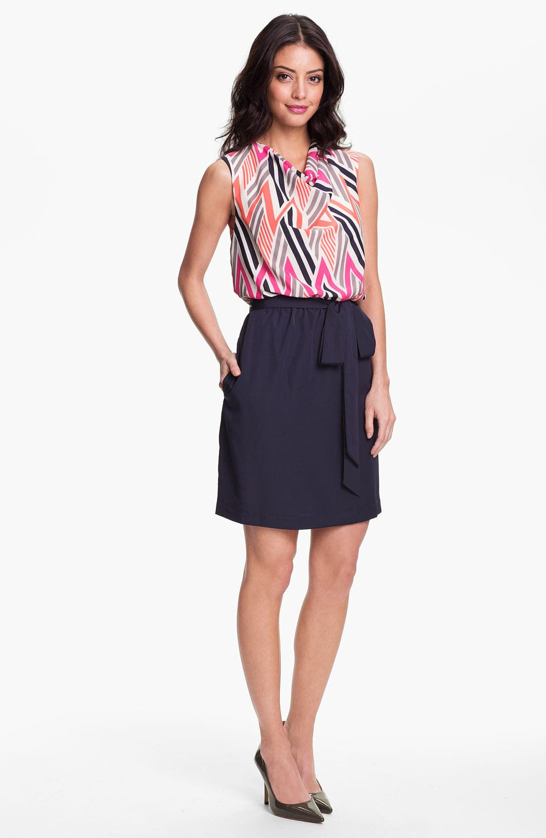 Alternate Image 1 Selected - Eliza J Geo Print Blouson Dress