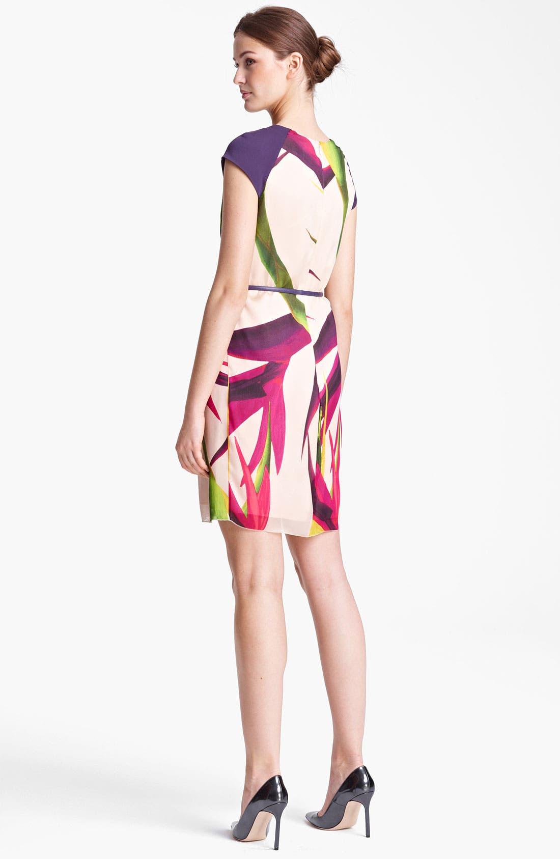 Alternate Image 2  - Max Mara 'Harry' Floral Print Silk Dress