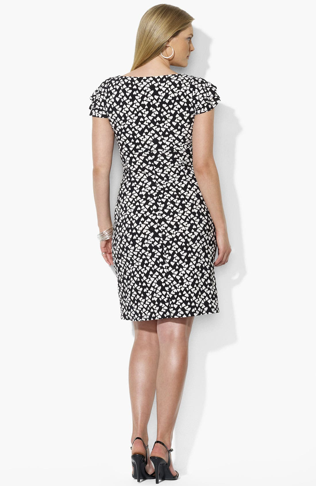 Alternate Image 3  - Lauren Ralph Lauren Print Matte Jersey Dress (Plus Size)