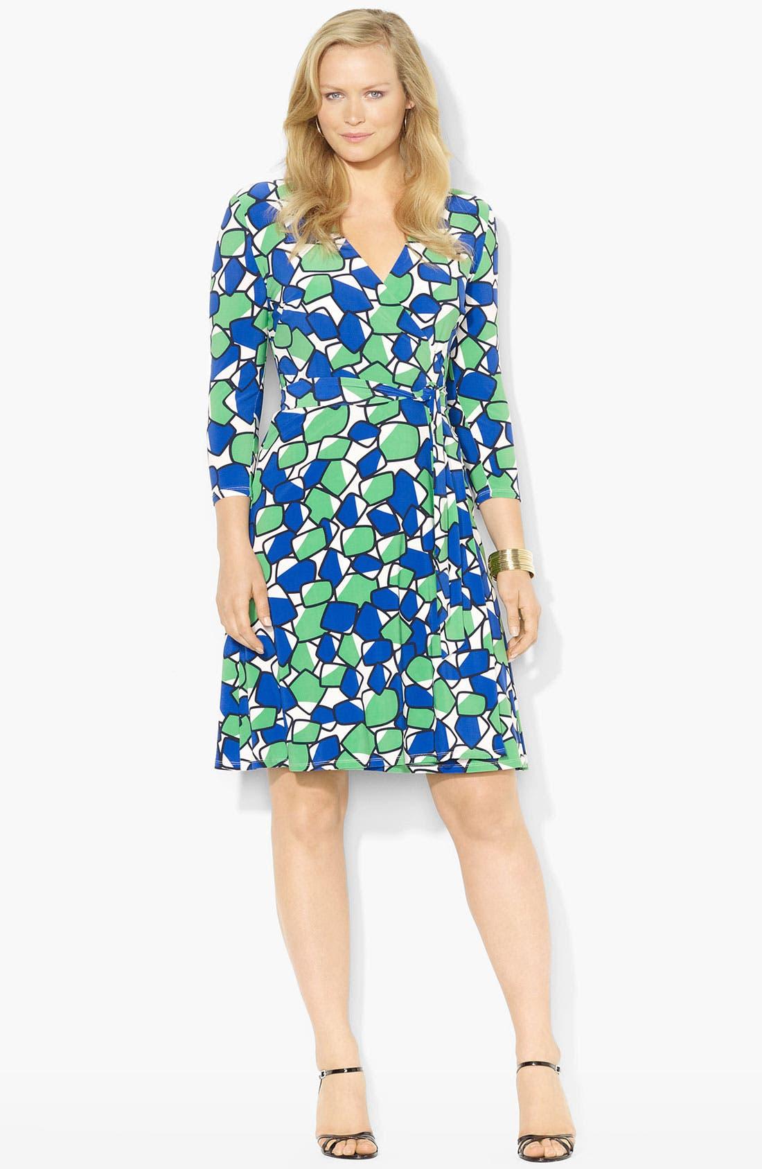 Alternate Image 1 Selected - Lauren Ralph Lauren Geo Print Wrap Dress