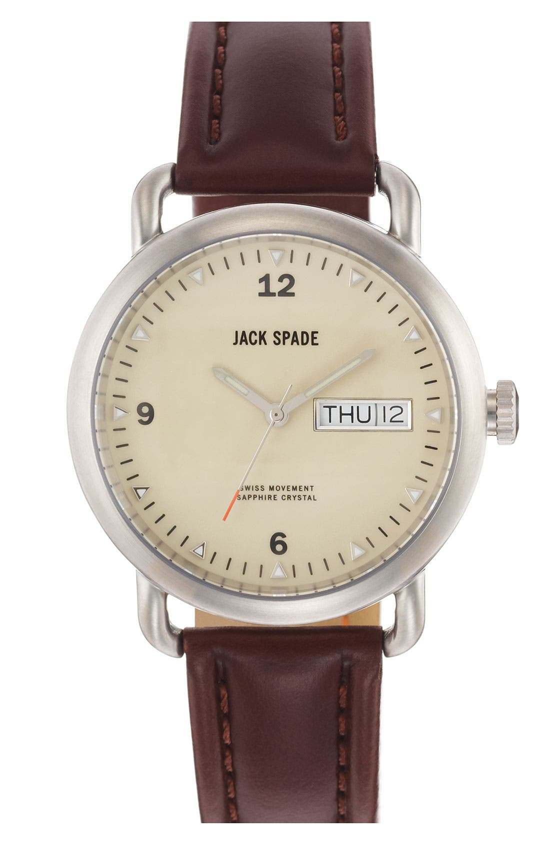 Alternate Image 1 Selected - Jack Spade 'Classic Military - Stillwell' Round Watch, 38mm