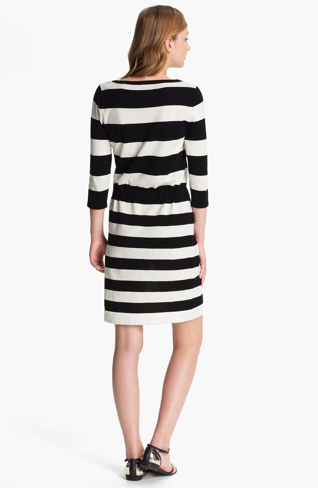 Alternate Image 2  - Vince Camuto Drawstring Waist Stripe Dress