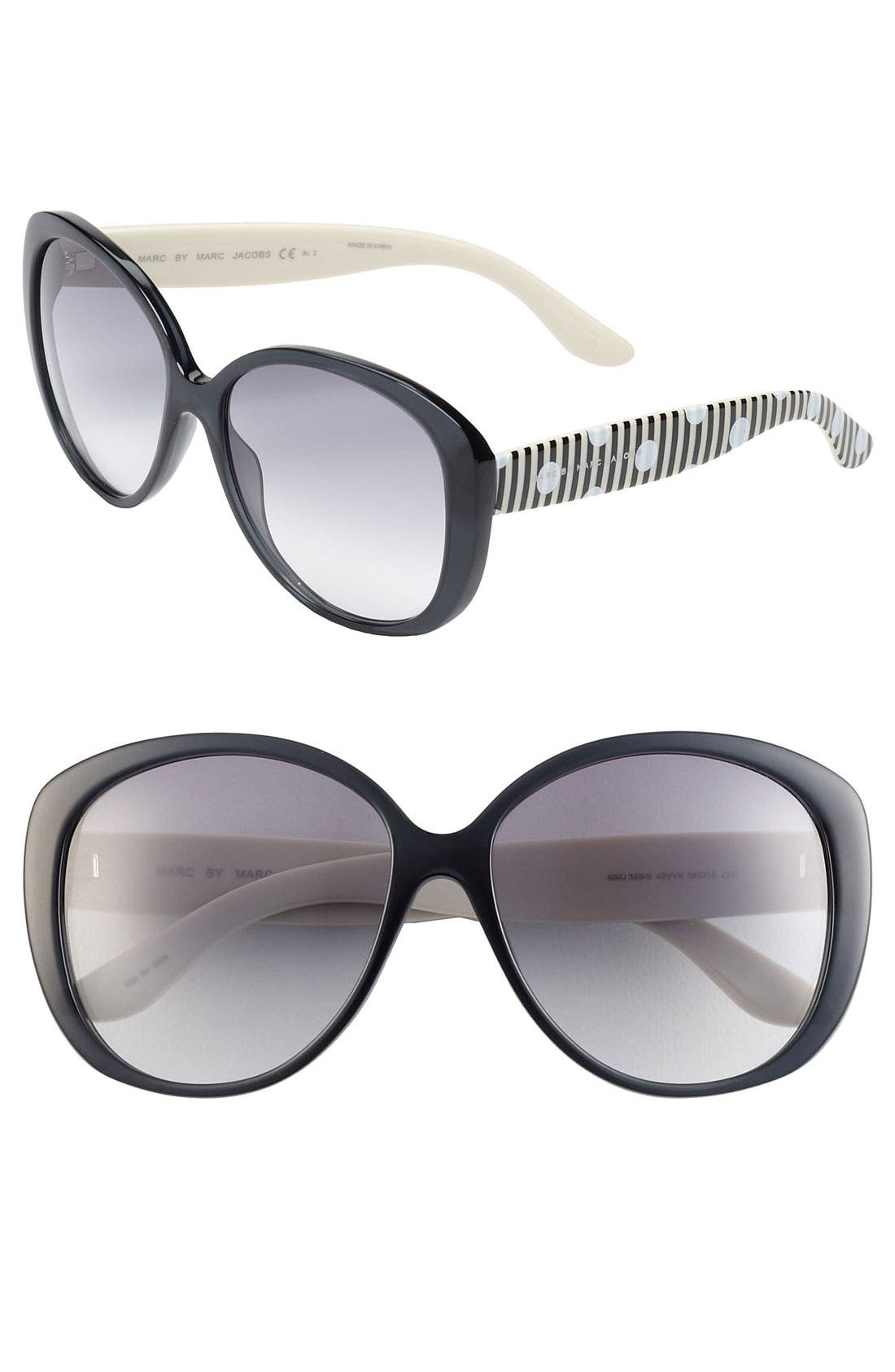 Main Image - MARC BY MARC JACOBS 58mm Oversized Retro Sunglasses