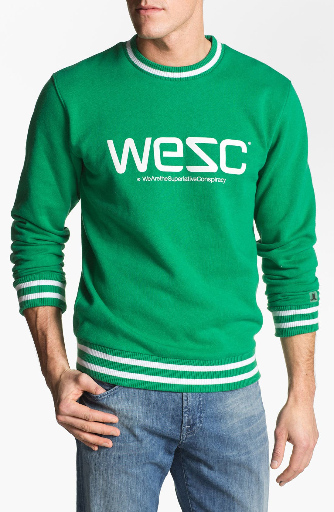 Alternate Image 1 Selected - WeSC Logo Graphic Crewneck Sweatshirt