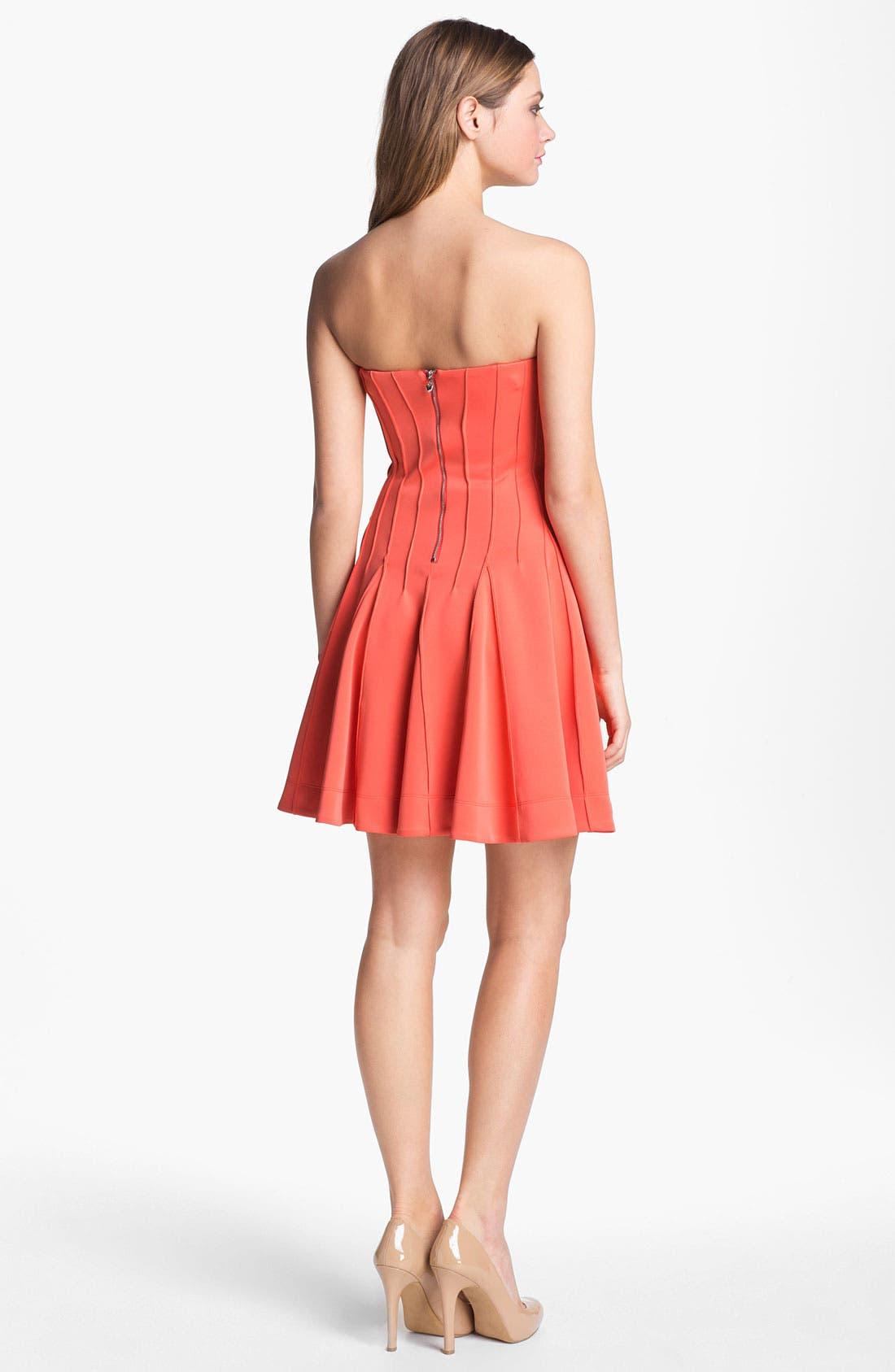 Alternate Image 2  - Betsey Johnson Seamed Fit & Flare Dress