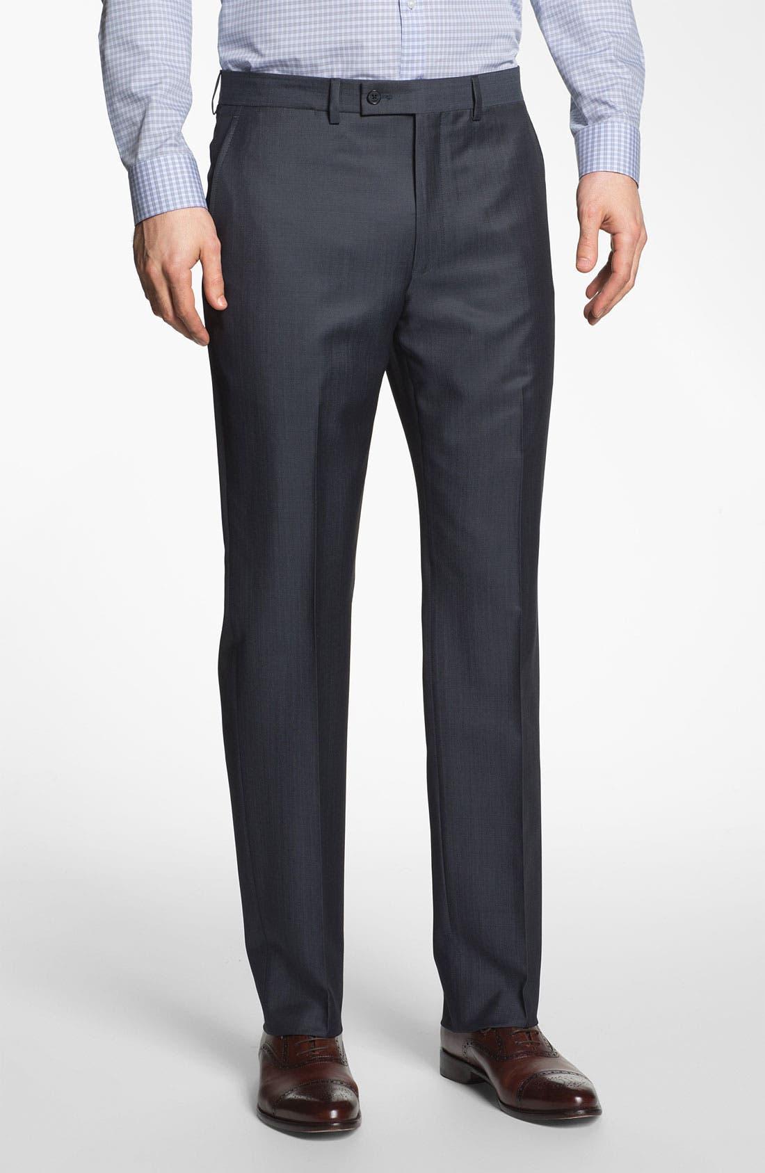 Alternate Image 4  - Michael Kors Trim Fit Twill Suit