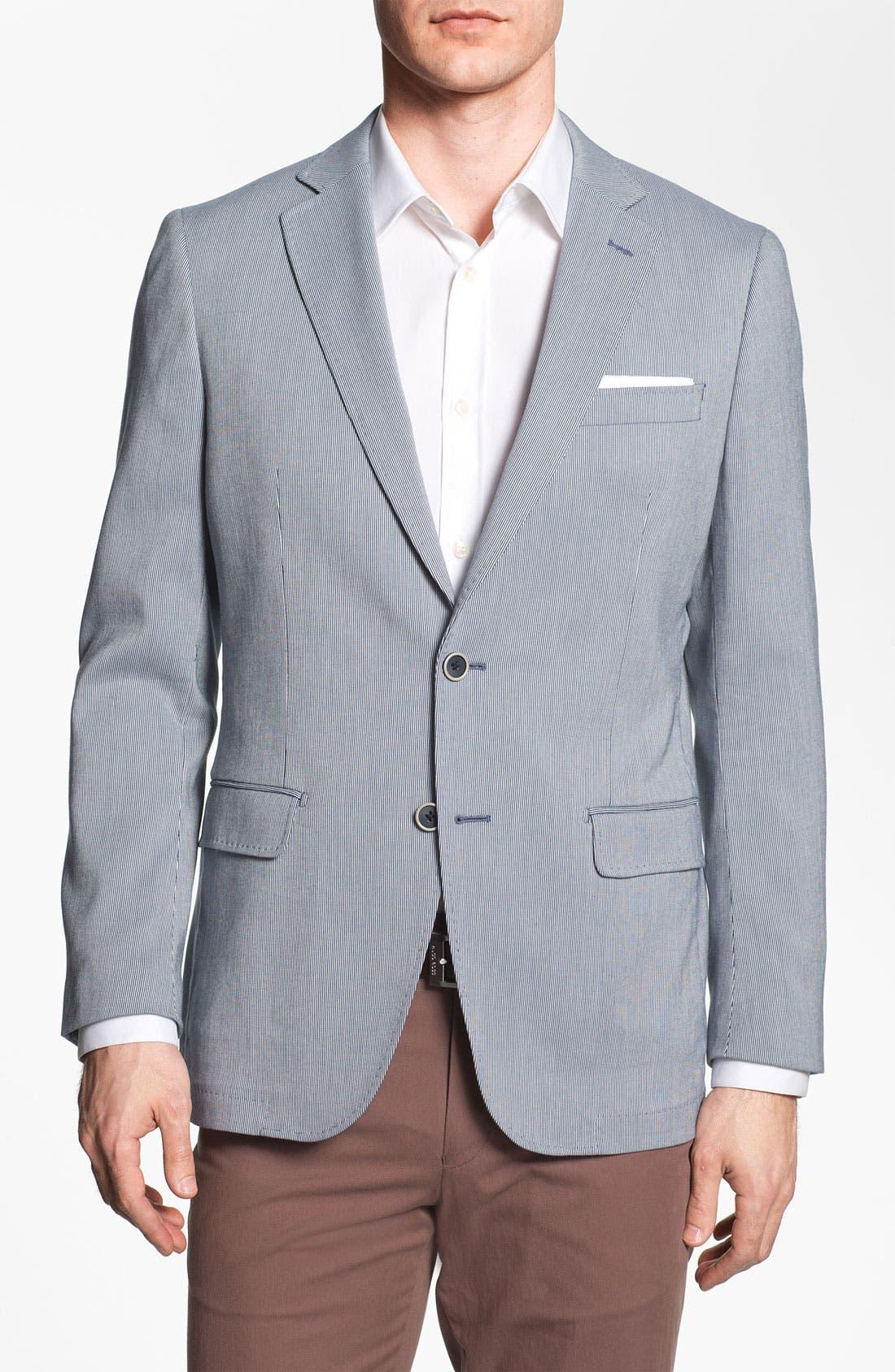 Alternate Image 1 Selected - Michael Kors Trim Fit Cotton Blend Sportcoat