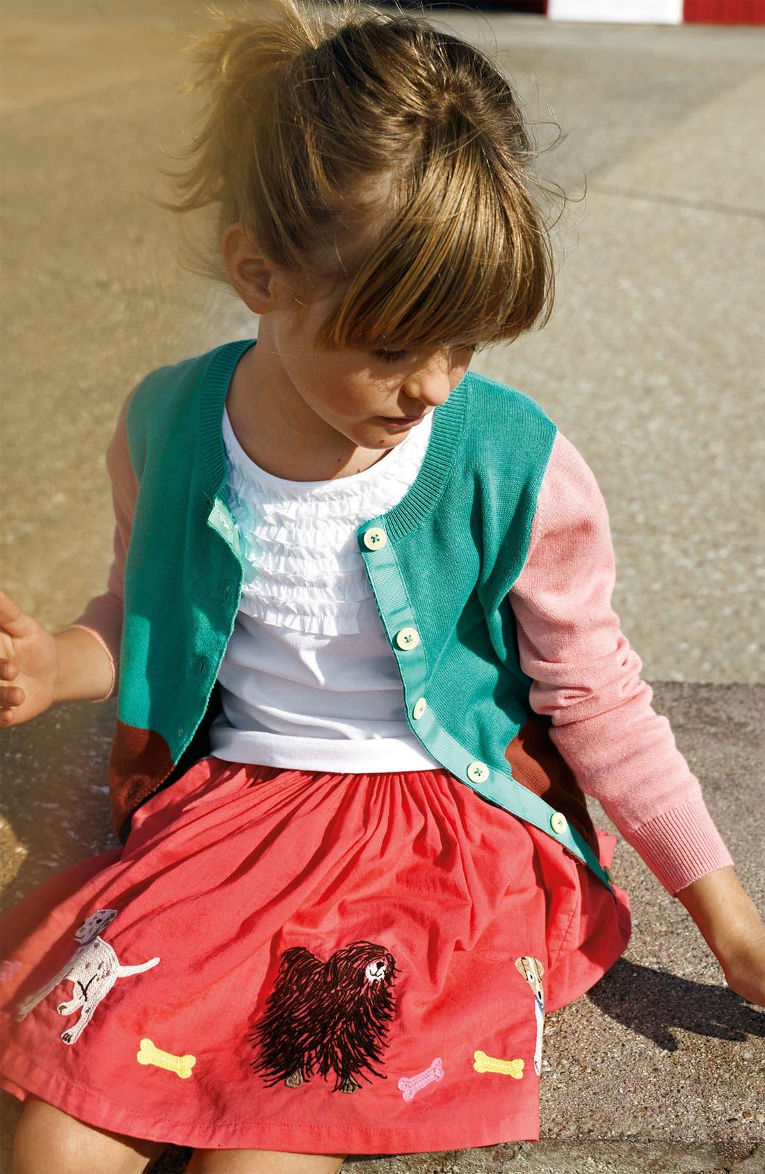 Alternate Image 1 Selected - Mini Boden Cardigan, Tank Top & Skirt (Little Girls & Big Girls)