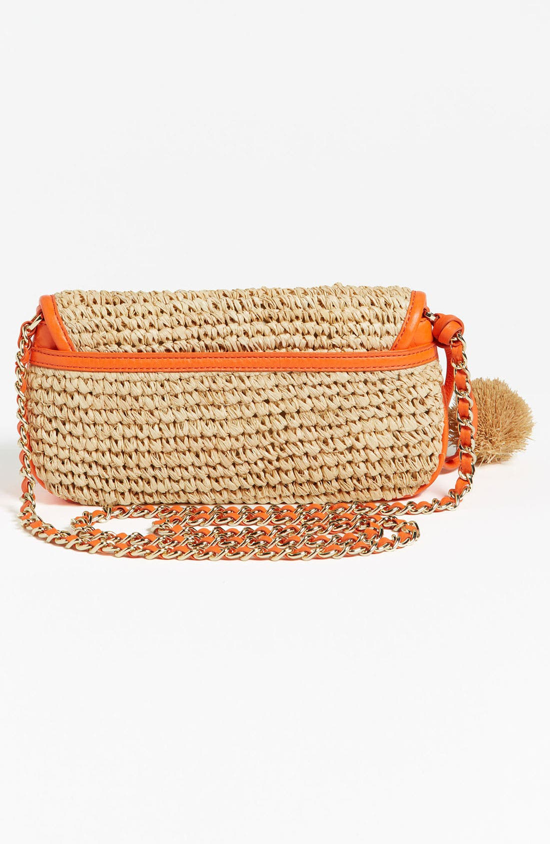 Alternate Image 4  - Tory Burch 'Thea - Mini' Straw Crossbody Bag, Small