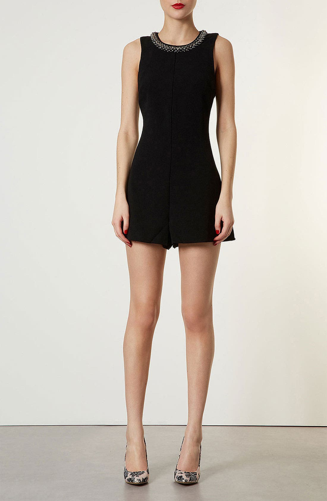 Alternate Image 1 Selected - Topshop Necklace Romper
