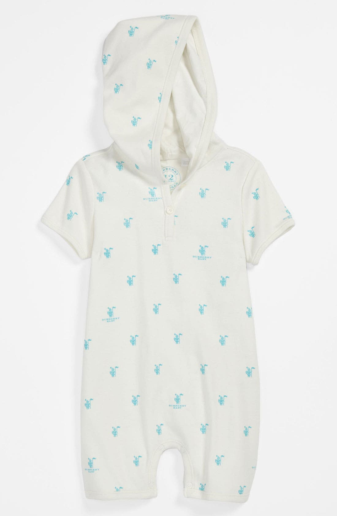 Main Image - Burberry 'Marlow' Romper (Baby)