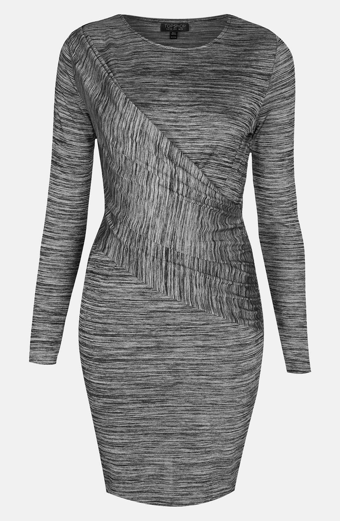 Main Image - Topshop Space Dye Draped Body-Con Dress