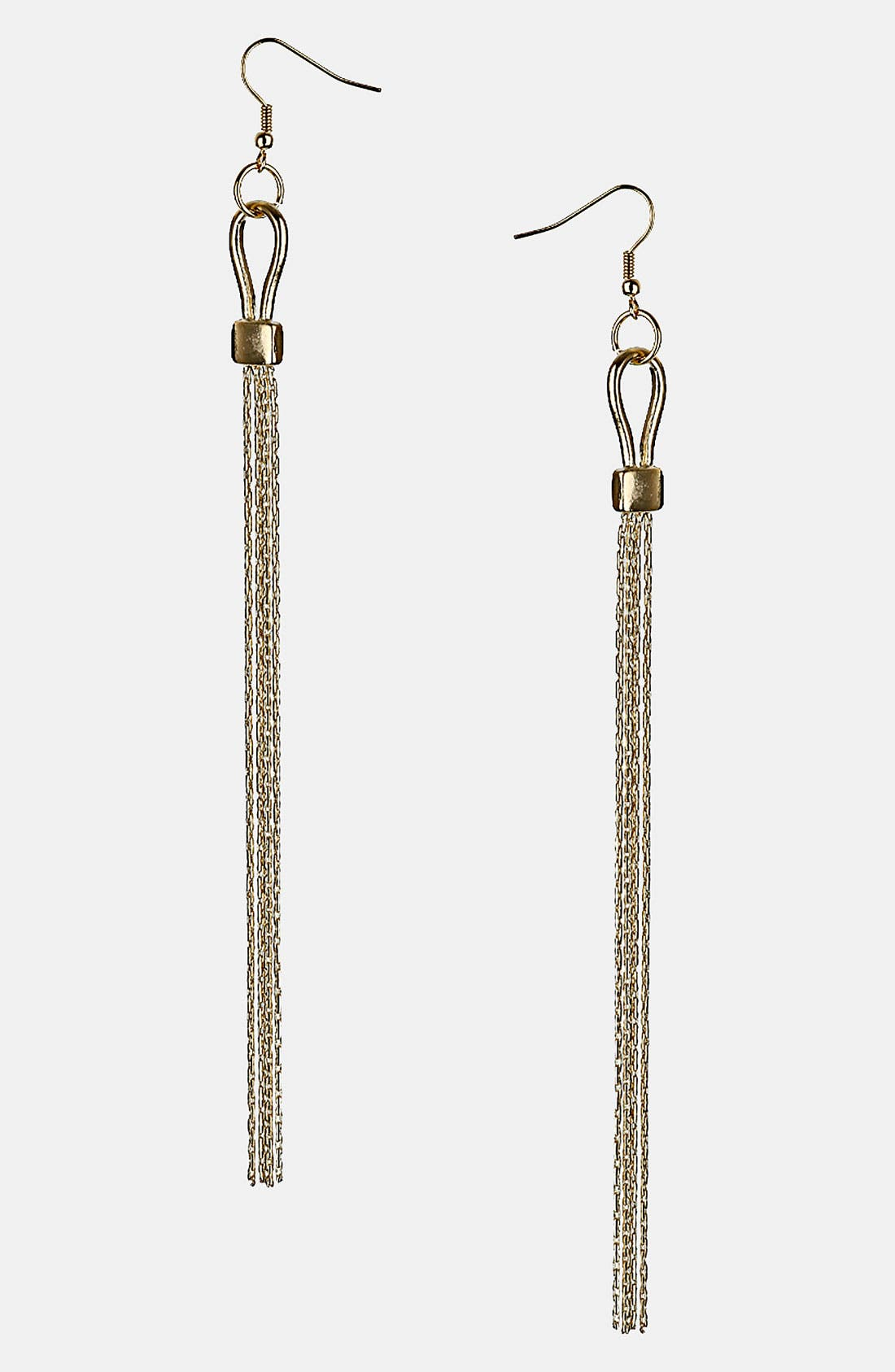 Alternate Image 1 Selected - Topshop 'Clasp Luxe' Drop Earrings