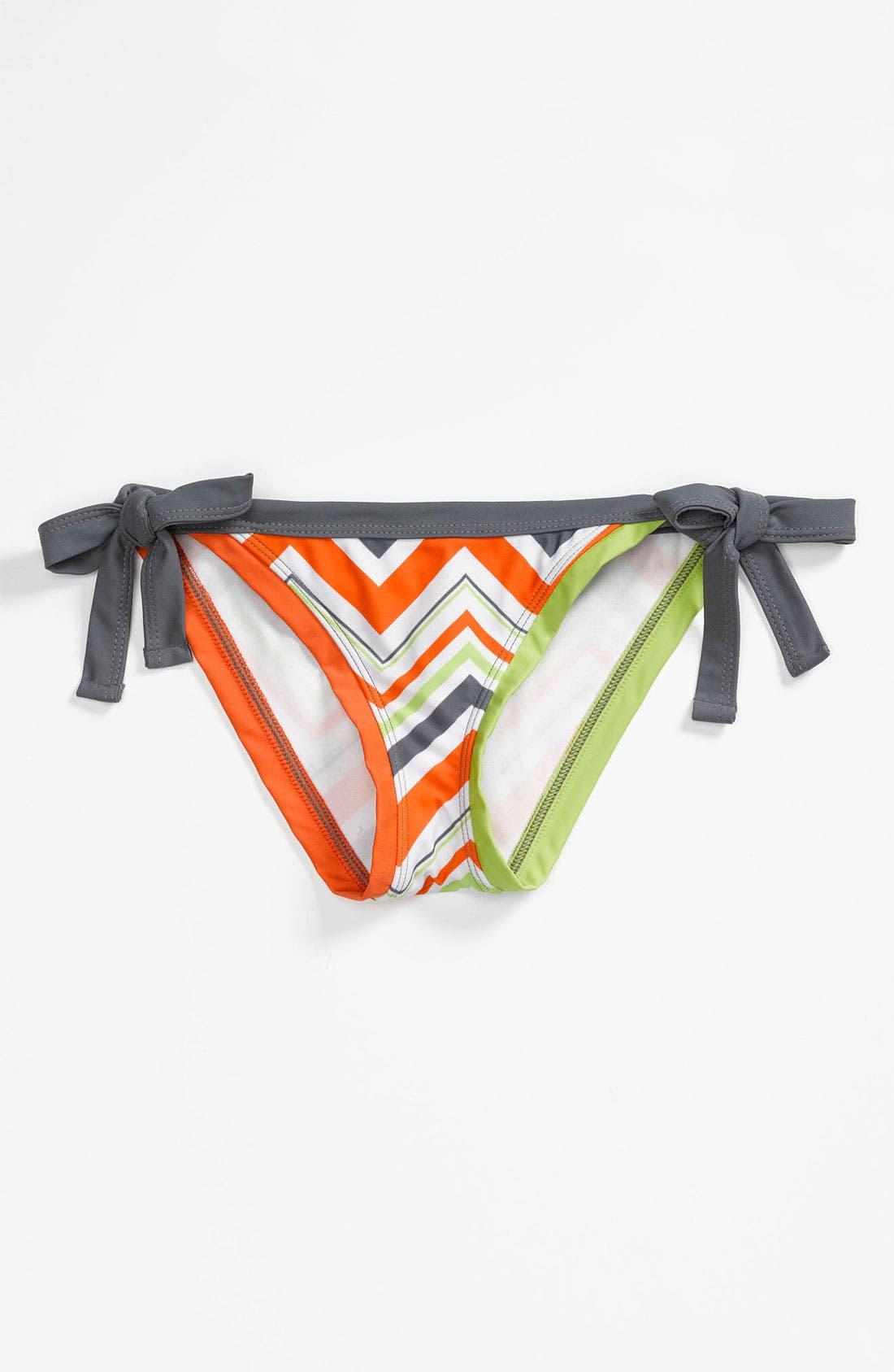 Alternate Image 1 Selected - BCA Chevron Stripe Side Tie Bikini Bottoms