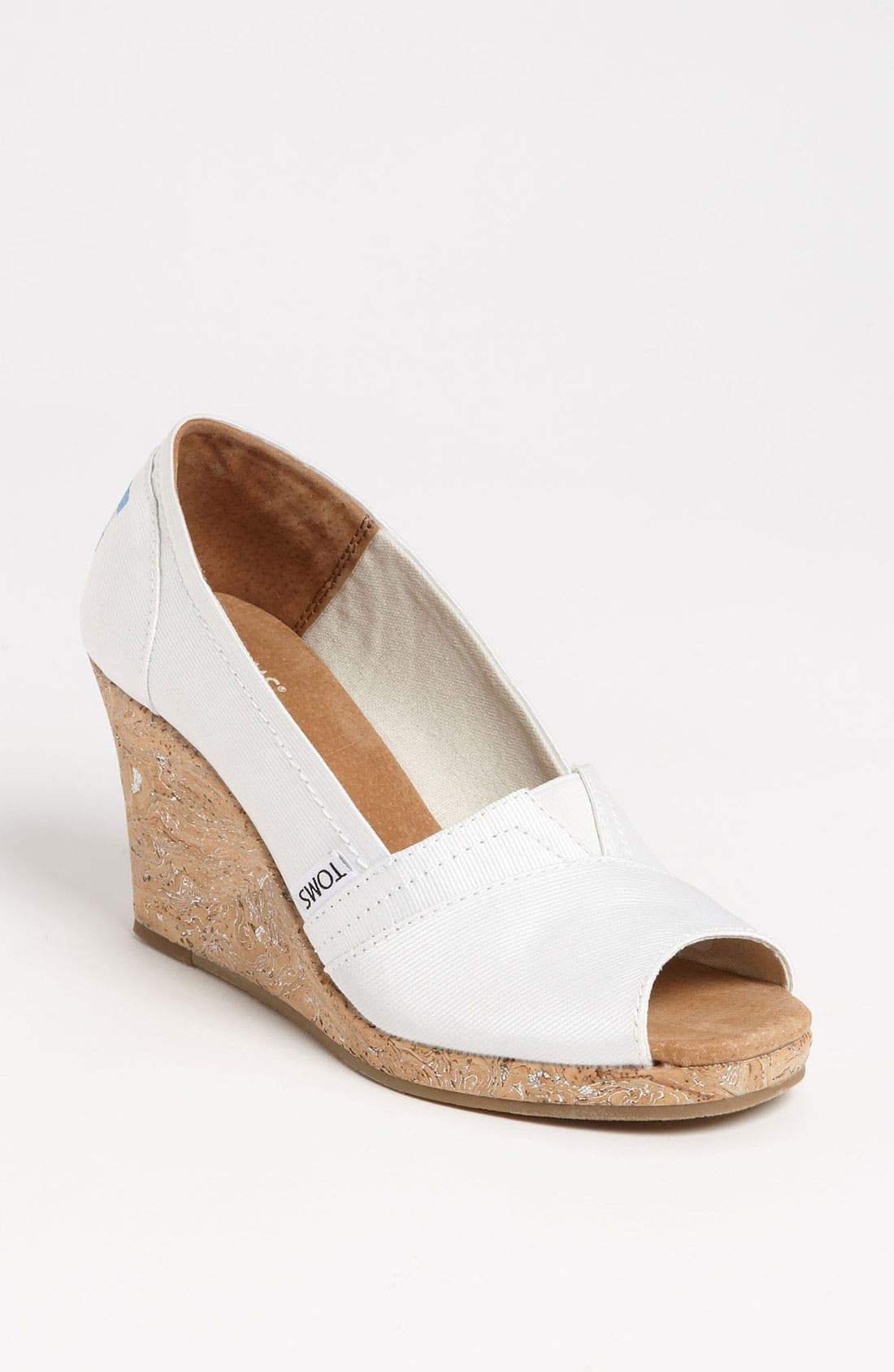 Alternate Image 1 Selected - TOMS Grosgrain Wedge (Women)