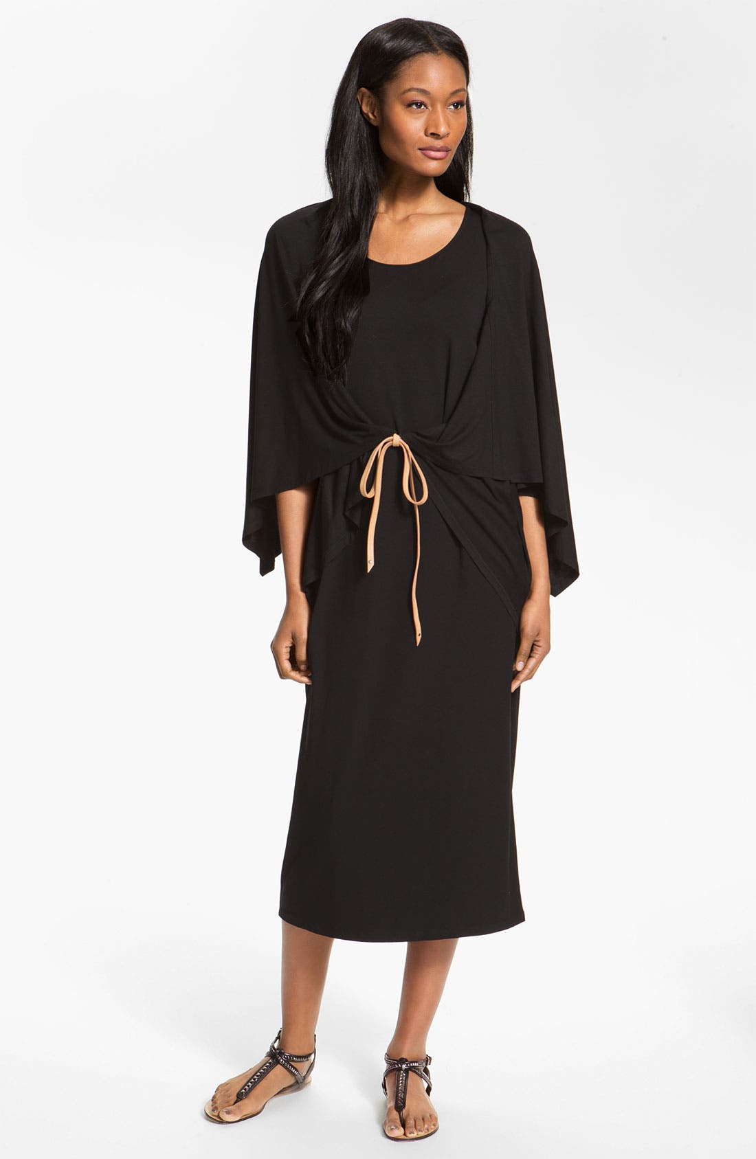 Alternate Image 4  - Eileen Fisher Ballet Neck Poncho Jersey Top