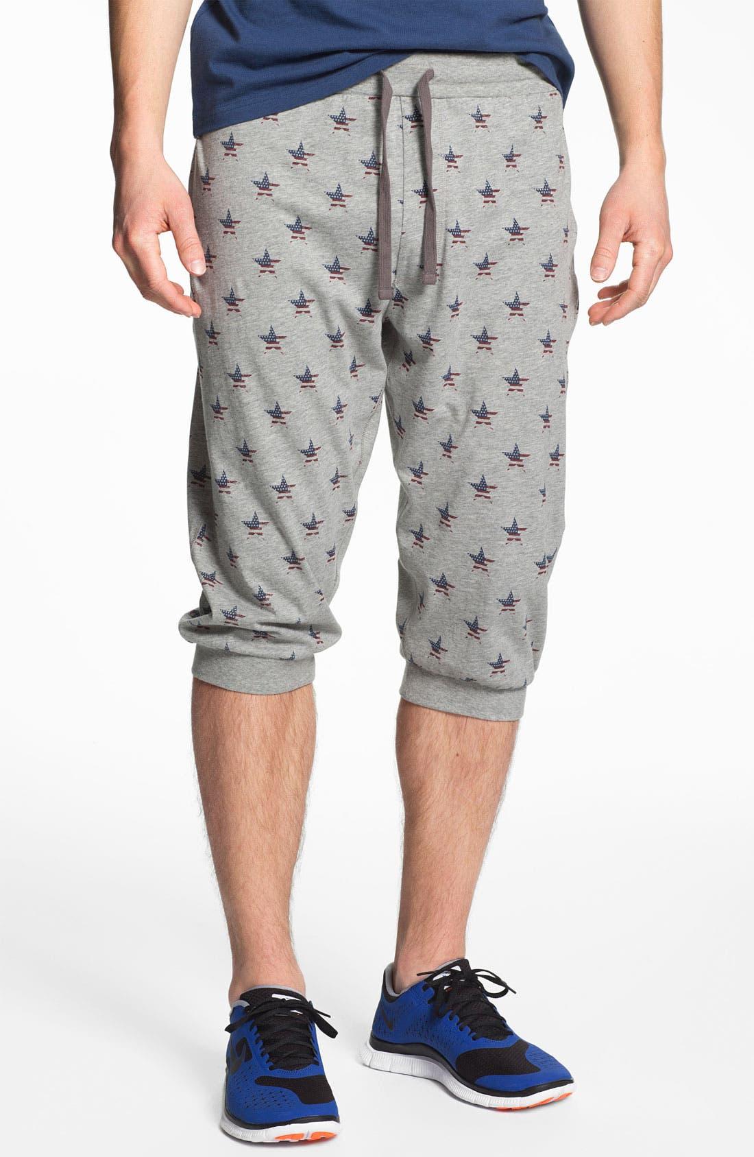 Main Image - Topman 'Americana Star' Crop Sweatpants
