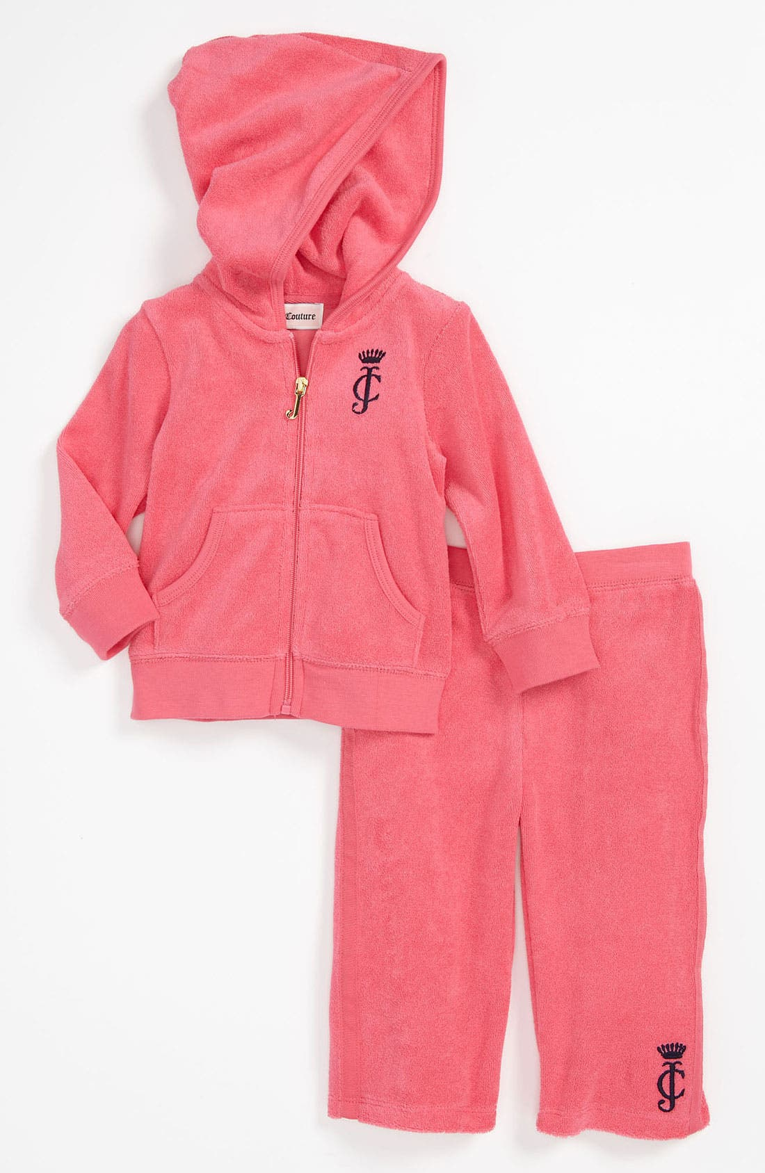 Alternate Image 1 Selected - Juicy Couture Terry Cloth Hoodie & Pants (Baby)