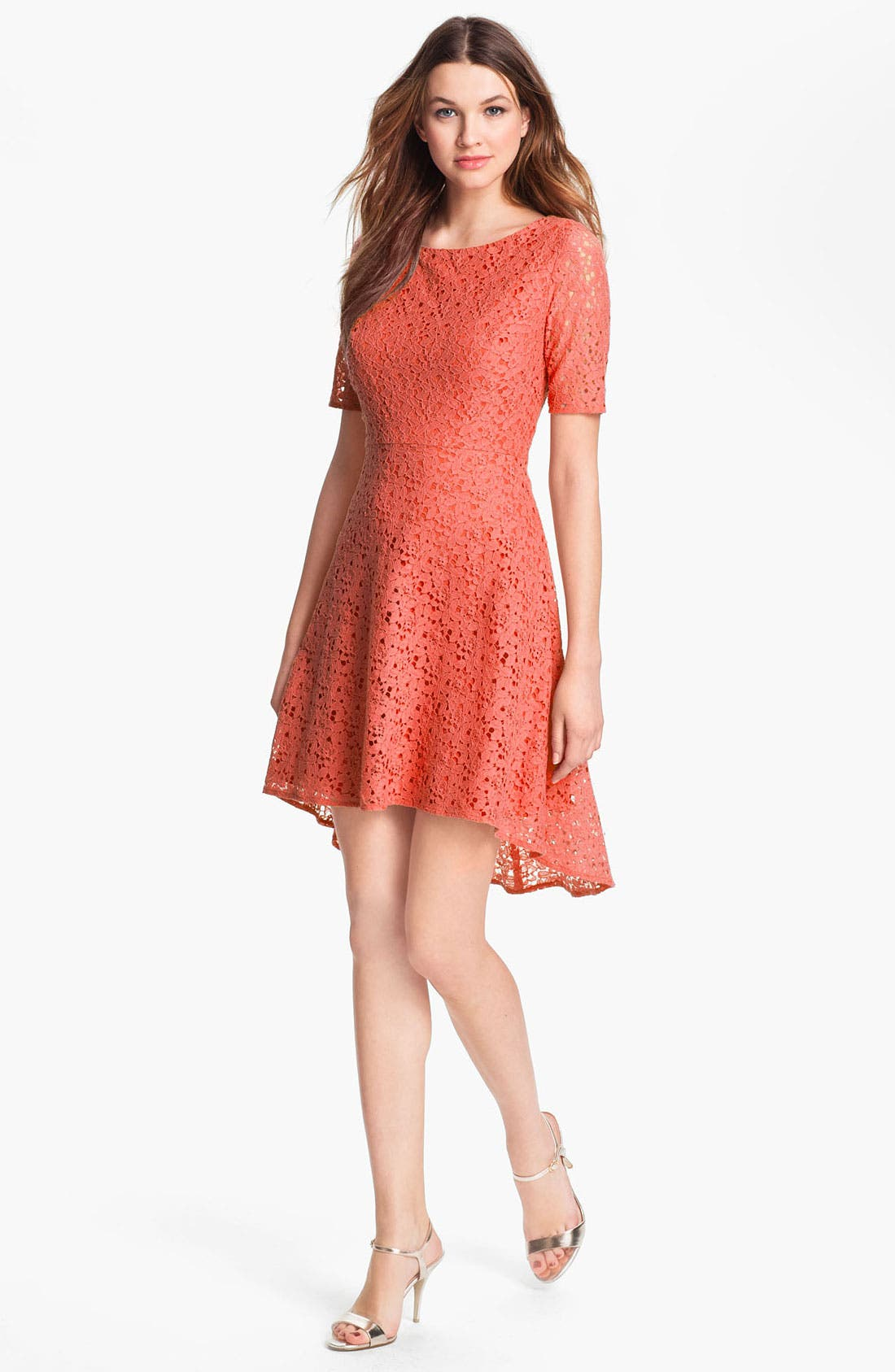Alternate Image 1 Selected - Betsey Johnson Lace Fit & Flare Dress