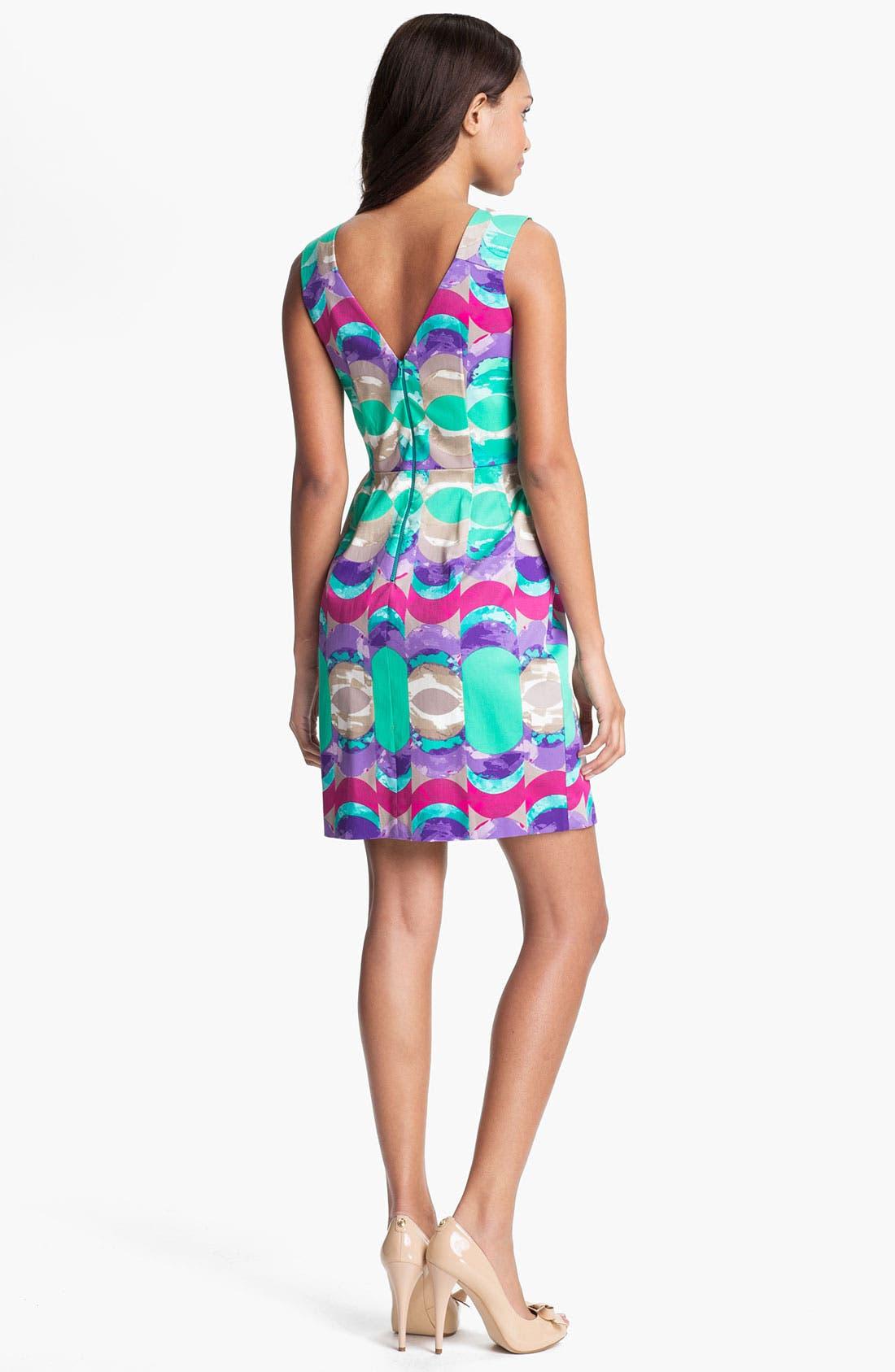 Alternate Image 2  - Donna Morgan Print Sheath Dress