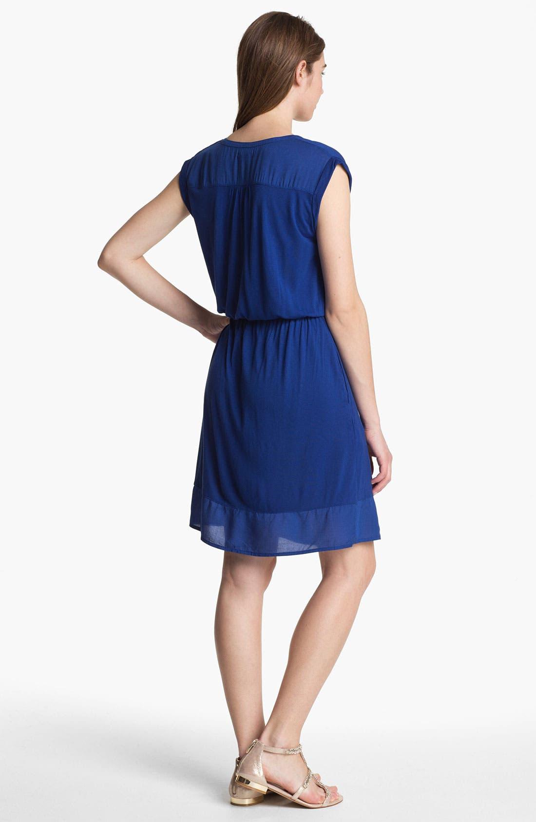 Alternate Image 2  - Caslon Mixed Media Dress