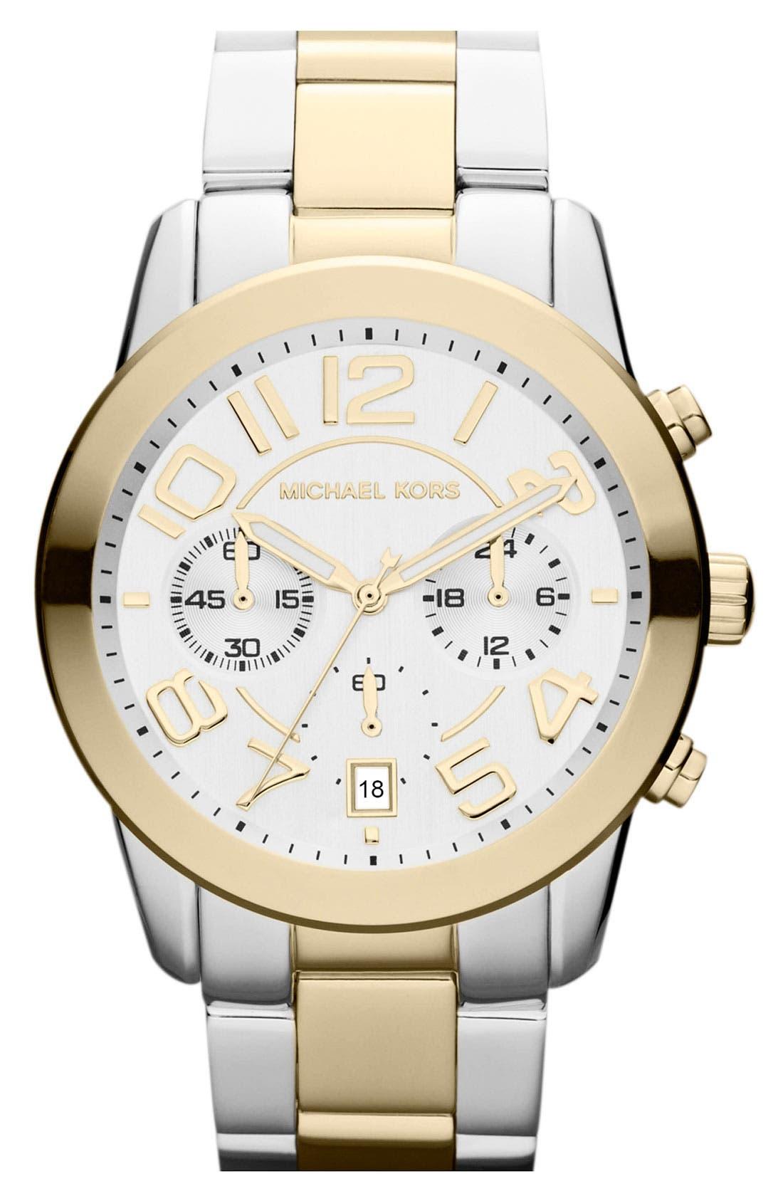 Alternate Image 1 Selected - Michael Kors 'Mercer' Chronograph Bracelet Watch, 41mm