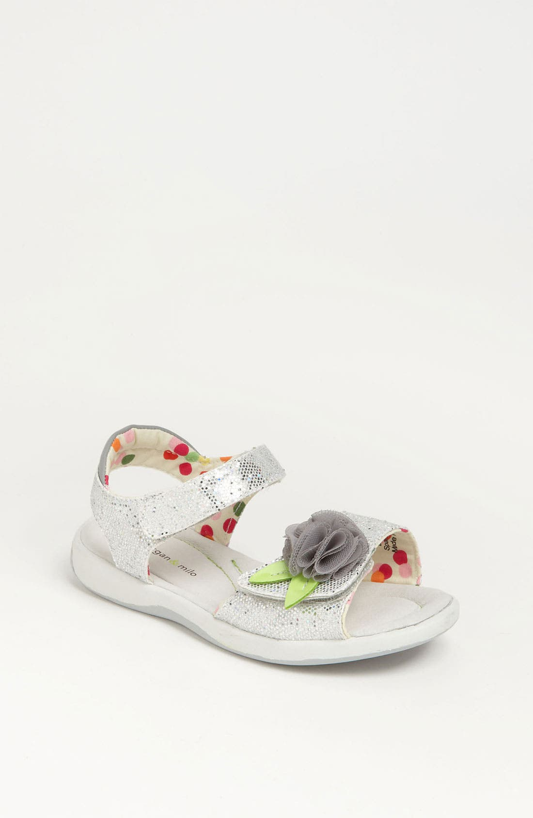 Alternate Image 1 Selected - Morgan & Milo 'Tina' Sparkle Sandal (Walker, Toddler & Little Kid)