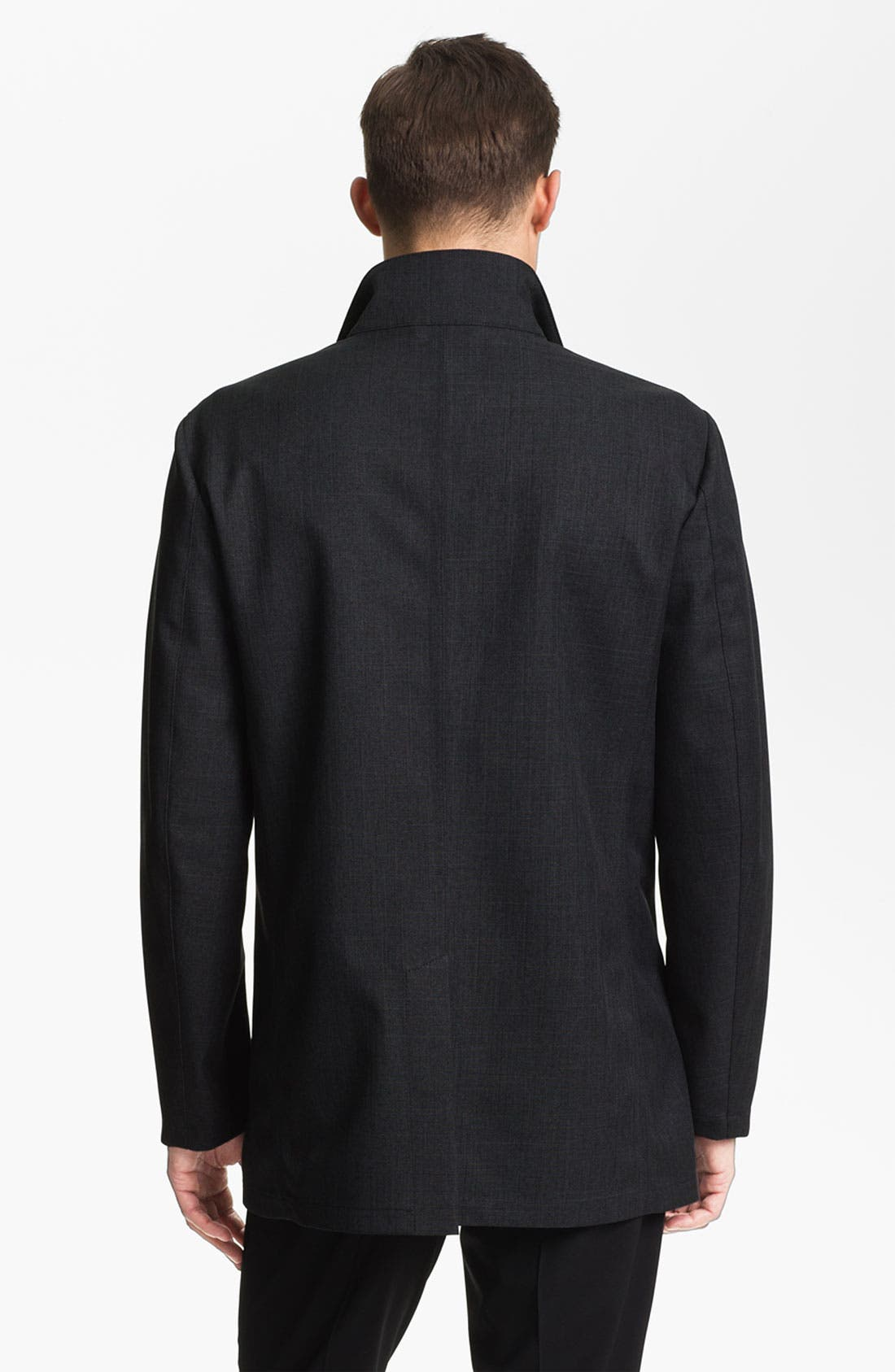 Alternate Image 2  - Armani Collezioni Microfiber Jacket