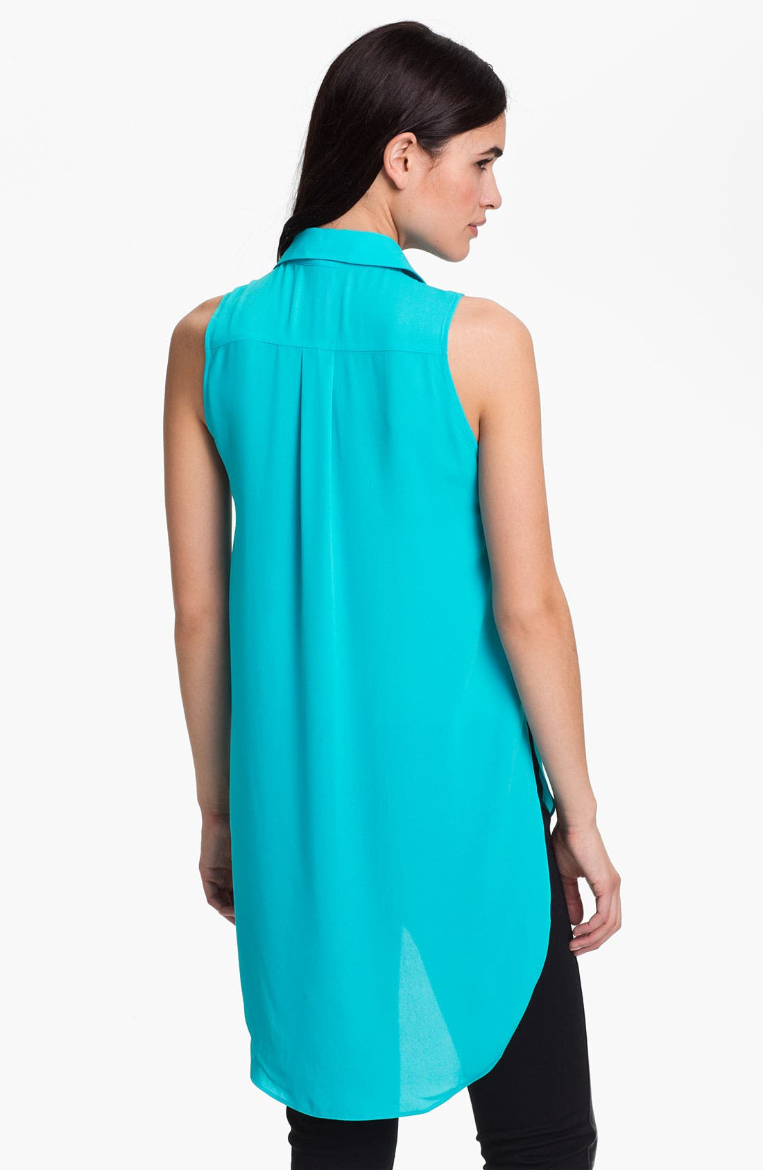 Alternate Image 2  - Eight Sixty Sleeveless High/Low Shirt