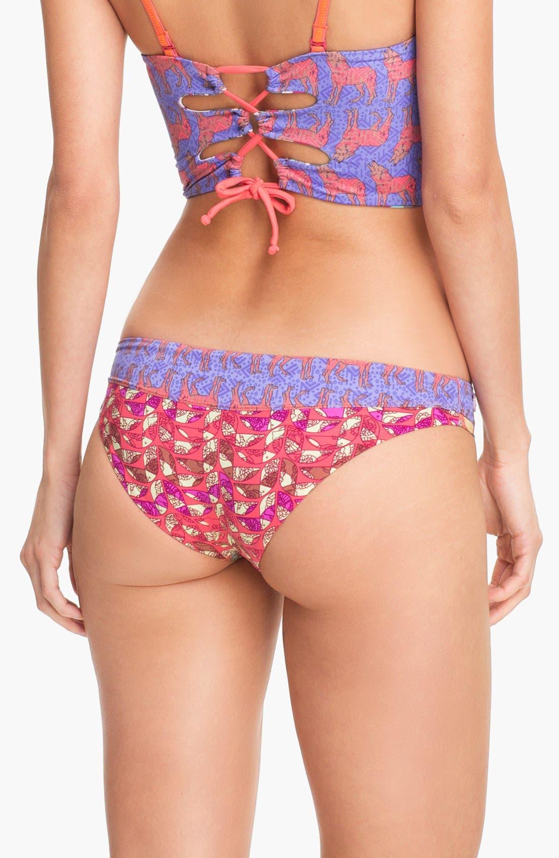 Alternate Image 2  - Maaji 'Peaches & Wolves' Reversible Bikini Bottoms