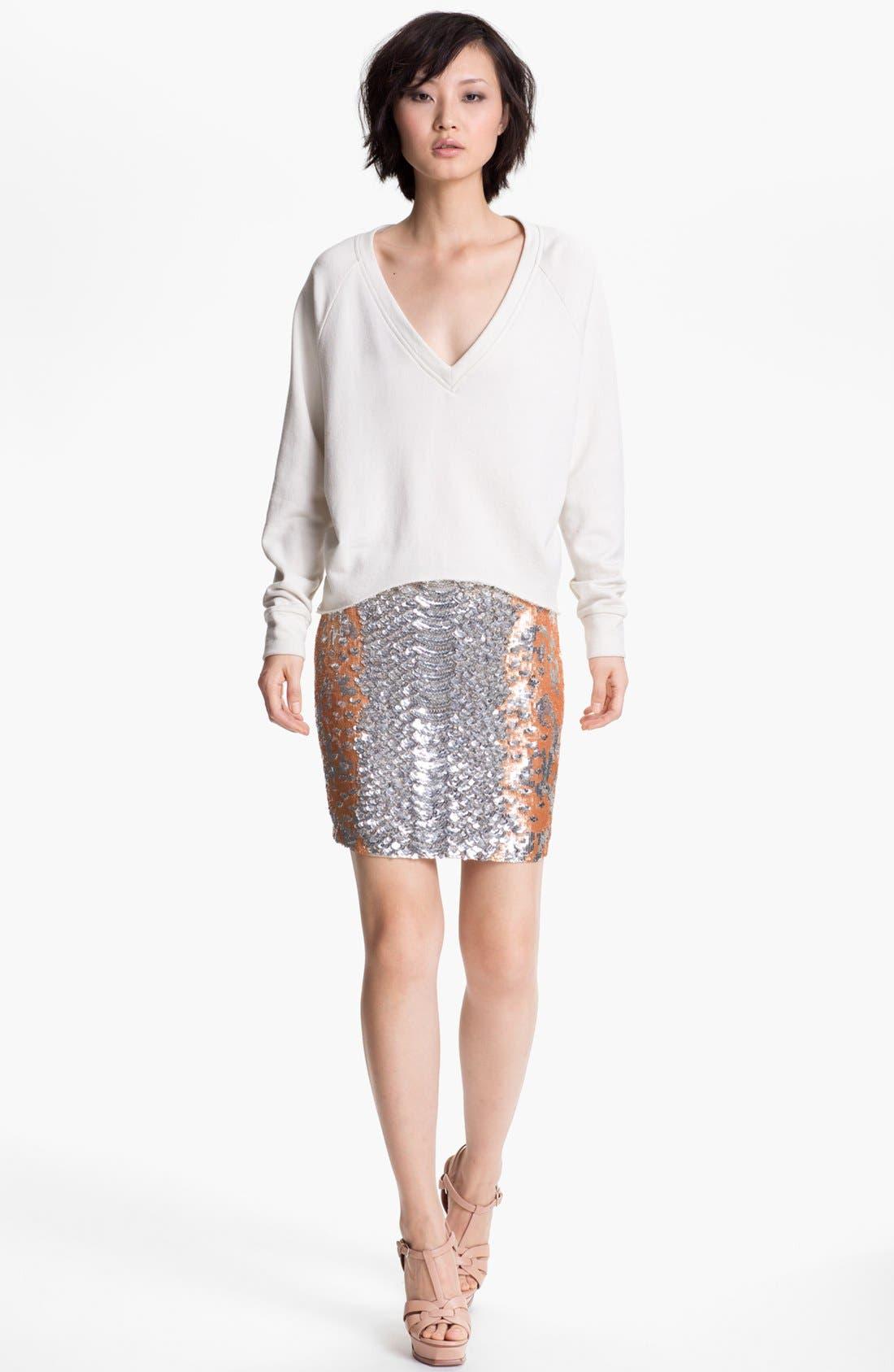 Alternate Image 4  - Haute Hippie Python Pattern Sequin Skirt (Nordstrom Exclusive)